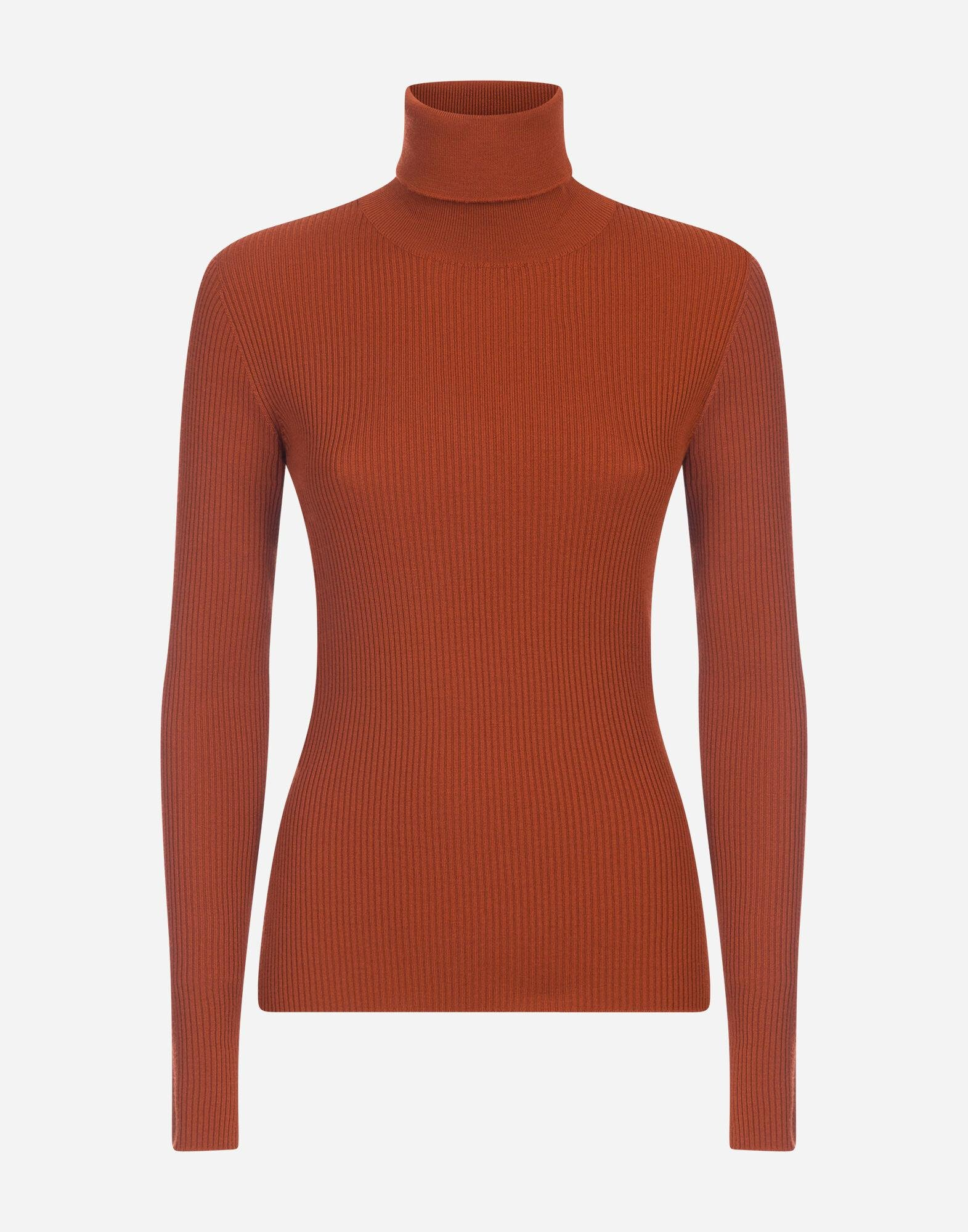 High neck sweater in ribbed wool 3