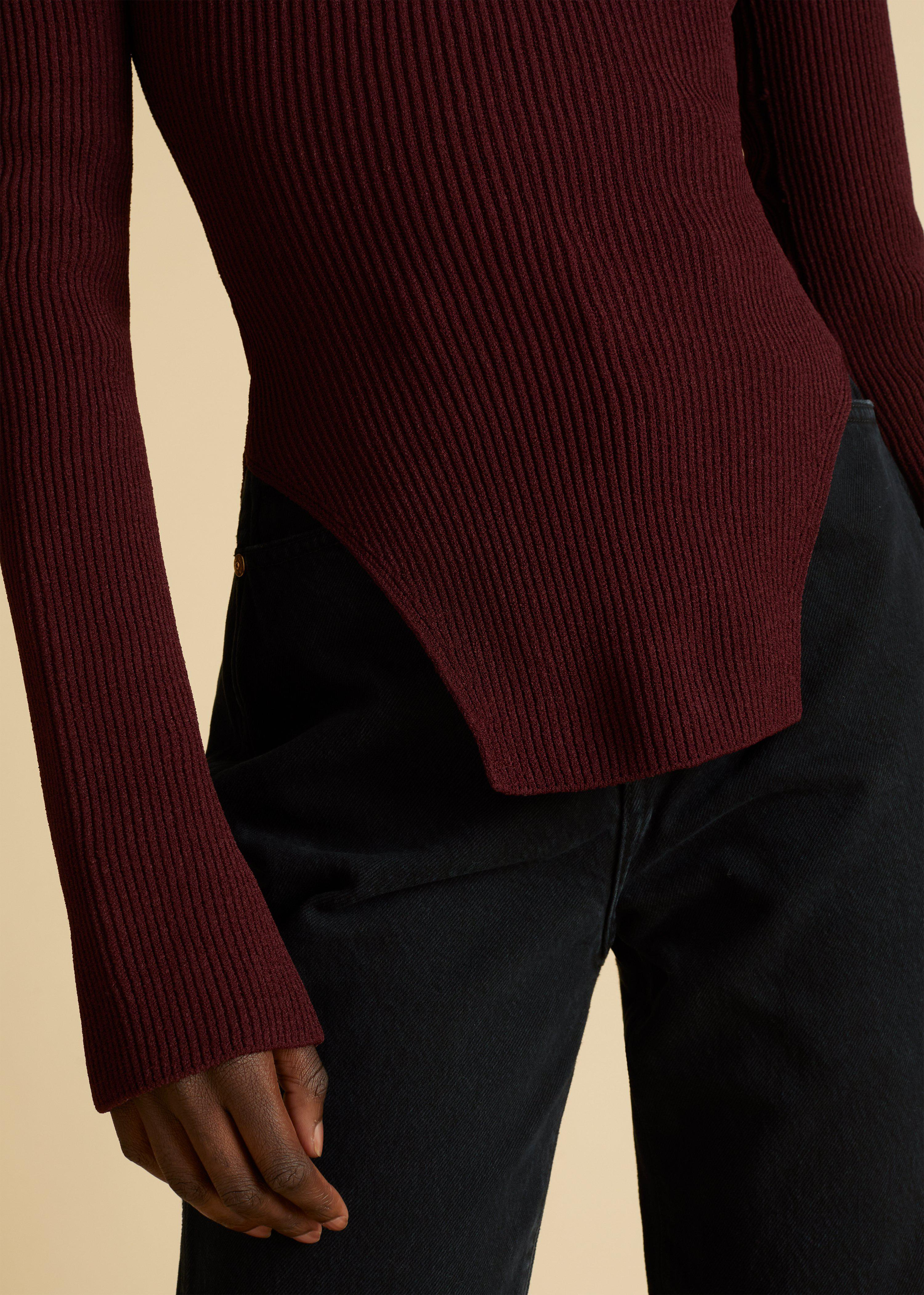 The Maddy Top in Oxblood 3