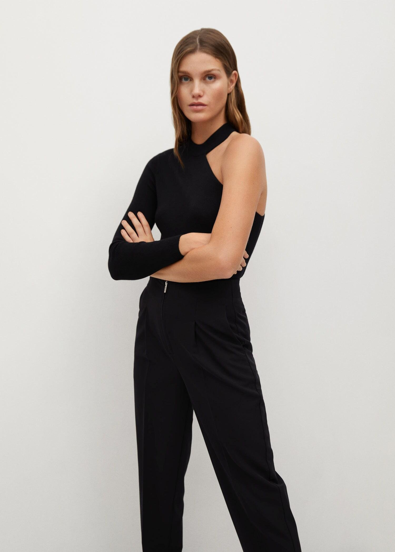 Pleated pants with zip 4