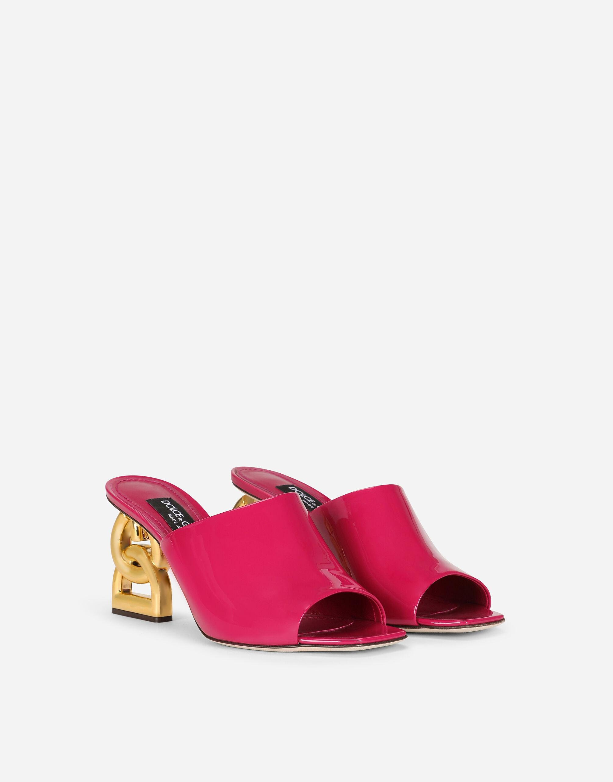 Patent leather mules with DG Pop heel 1