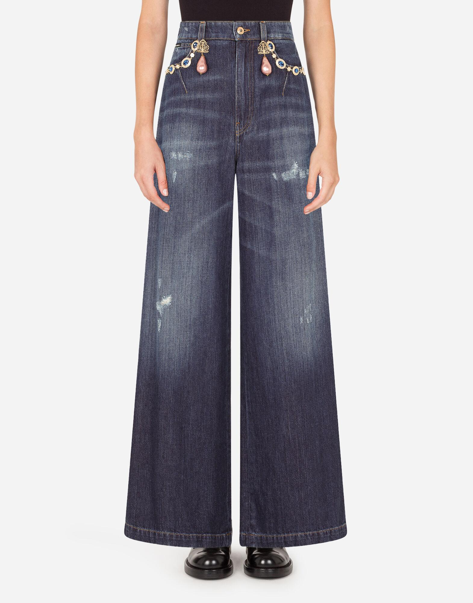 High-waisted Dolce jeans with decorative details