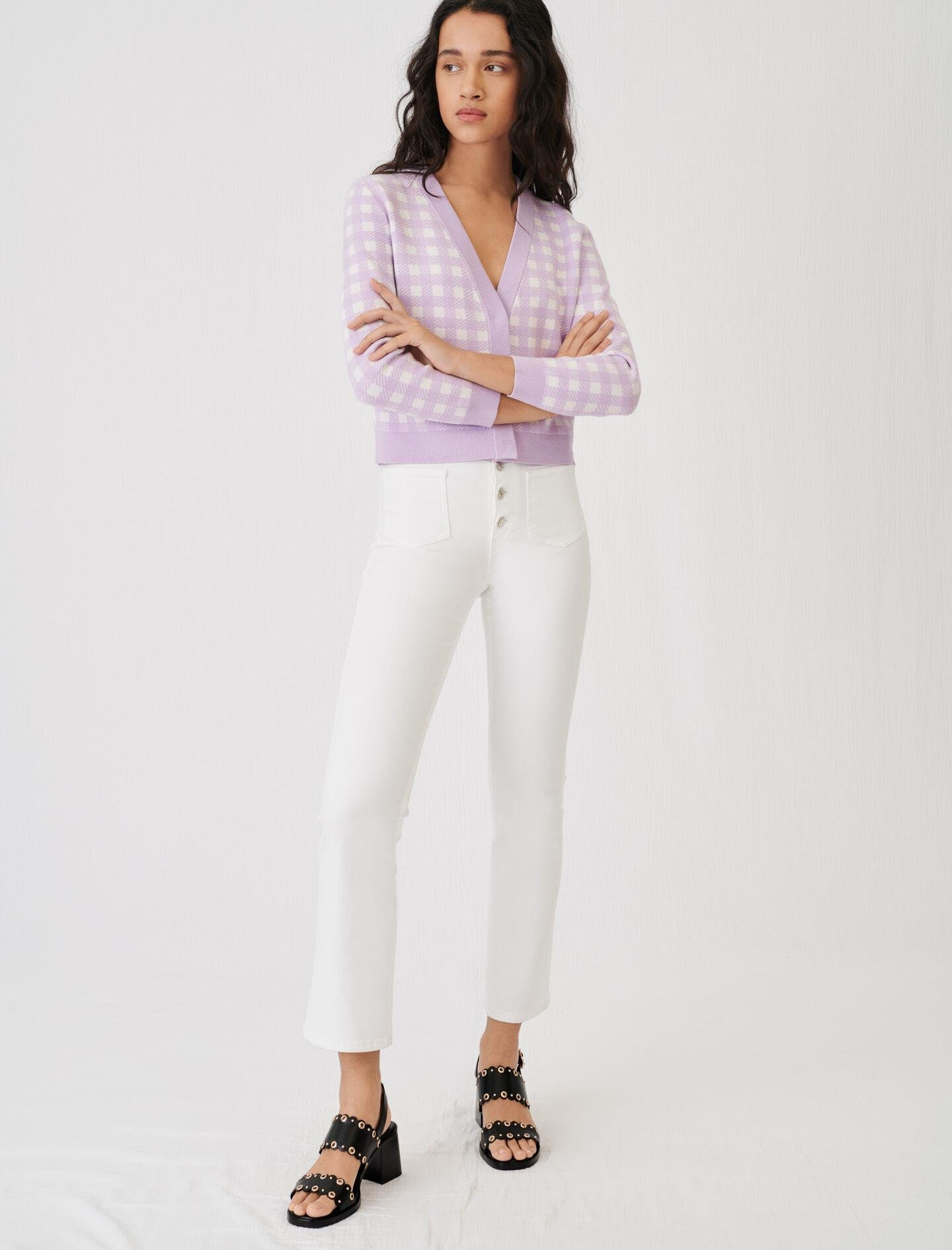FLARED JEANS WITH POCKETS AND BUTTONS