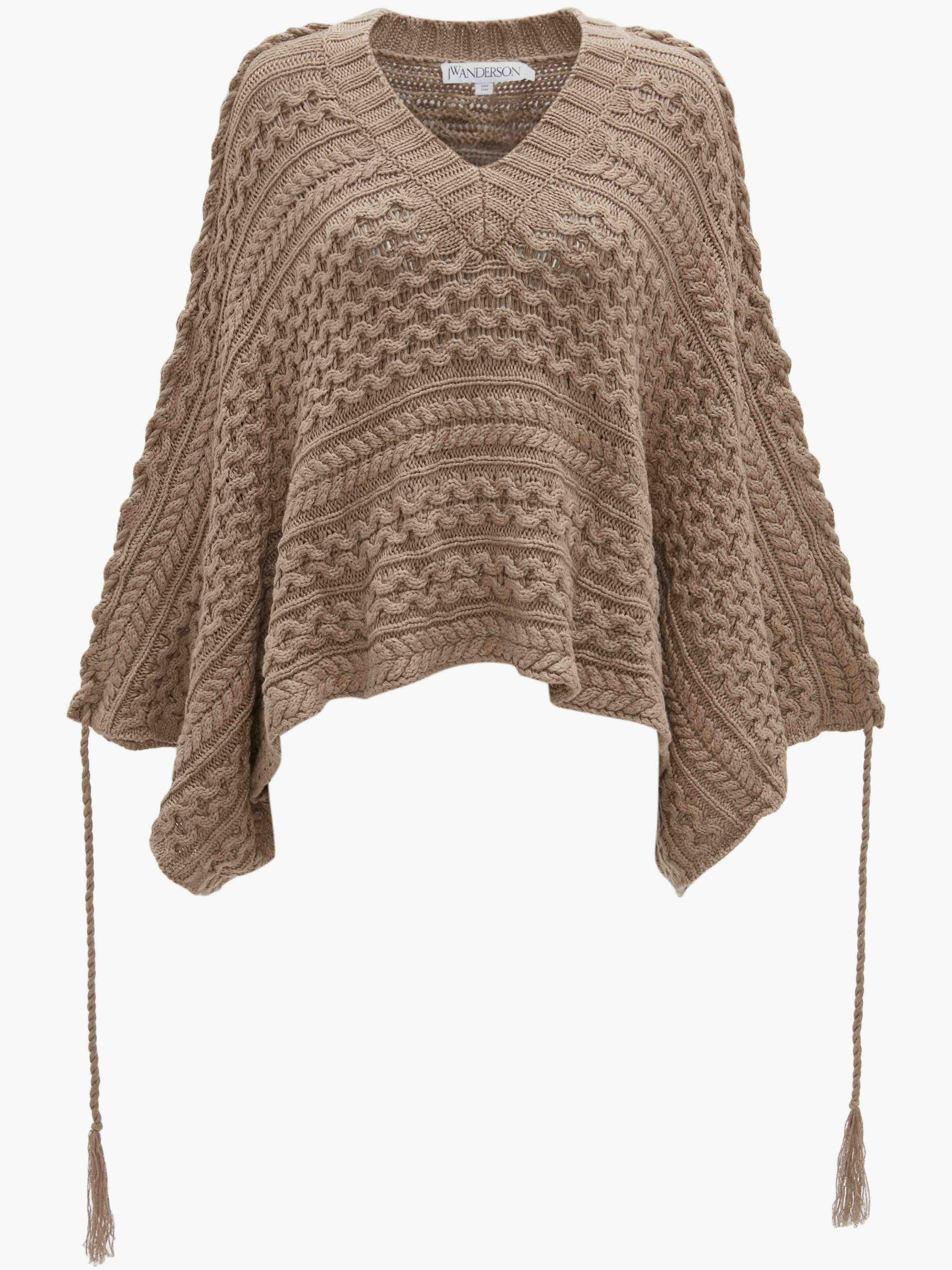 CROPPED V-NECK CABLE TOP 3