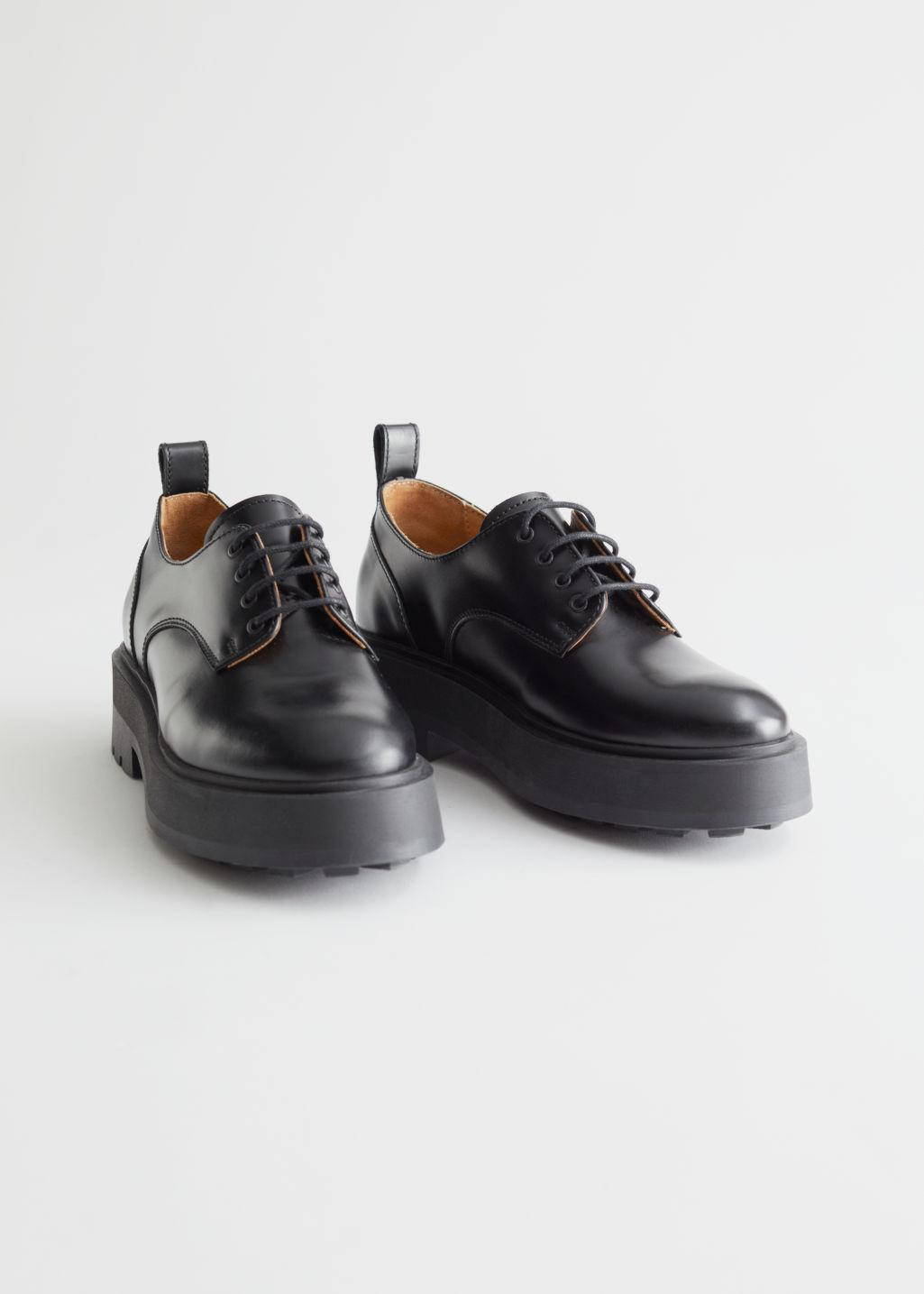 Chunky Leather Oxfords 1