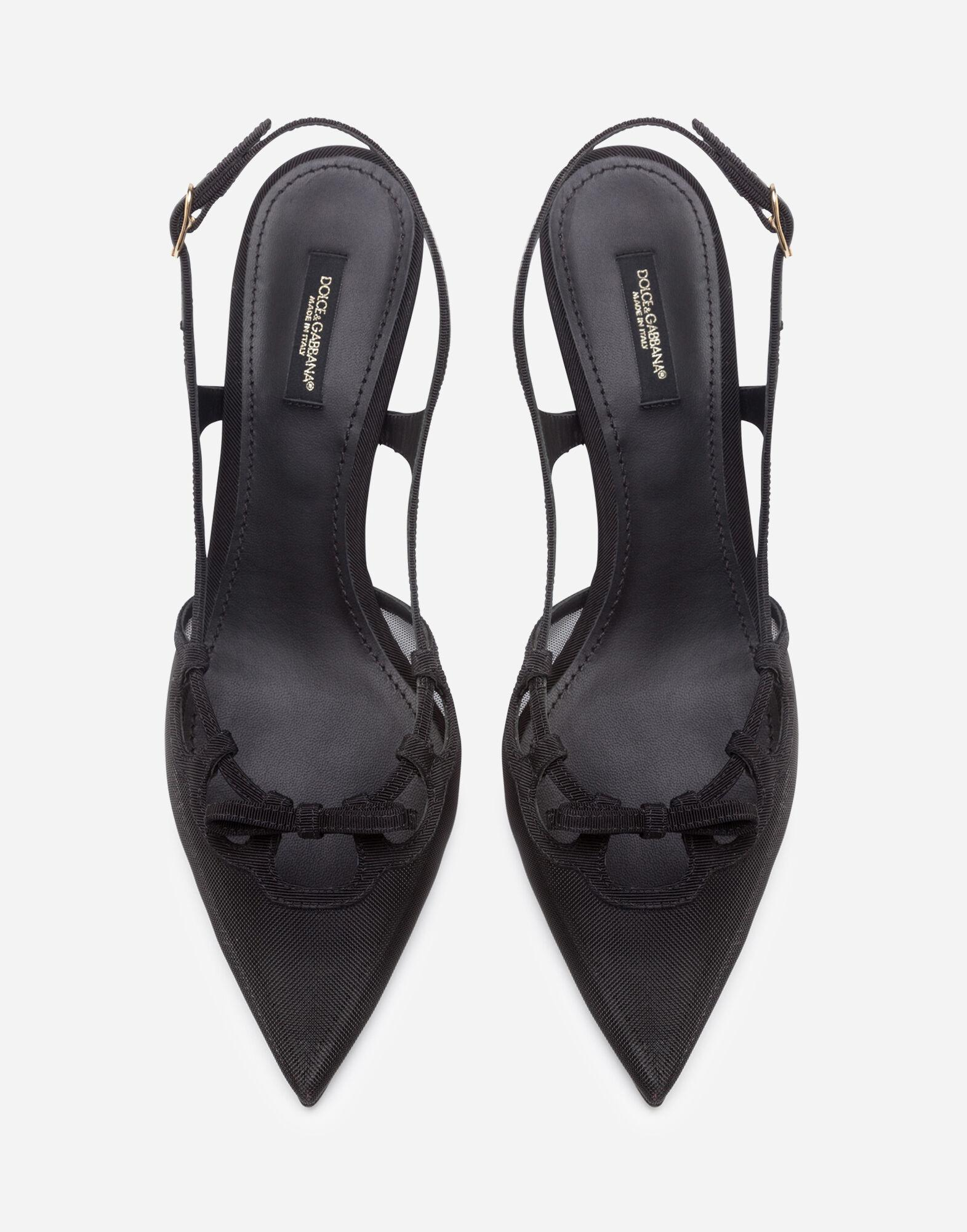 Slingback shoes in mesh and grosgrain 3