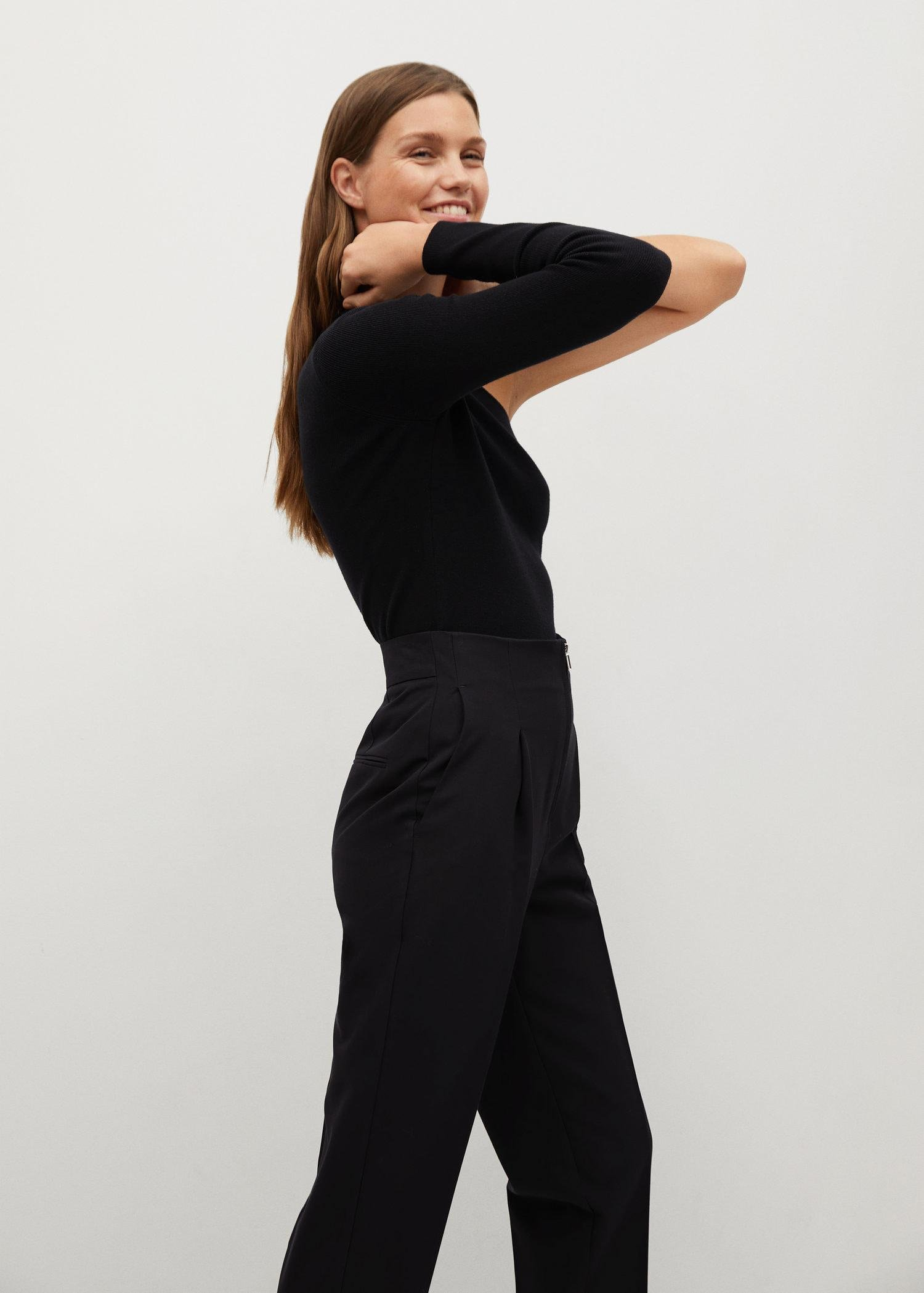 Pleated pants with zip 3