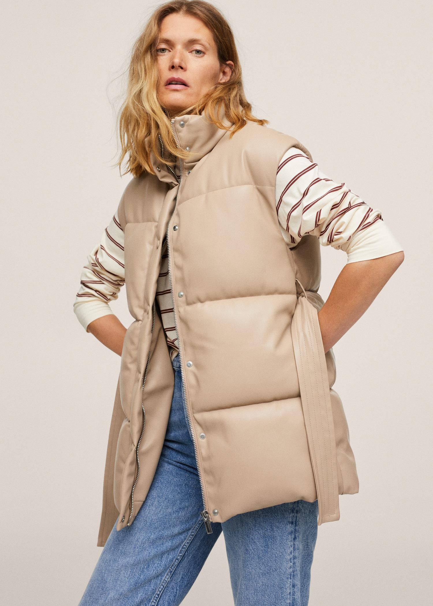 Quilted skin style gilet