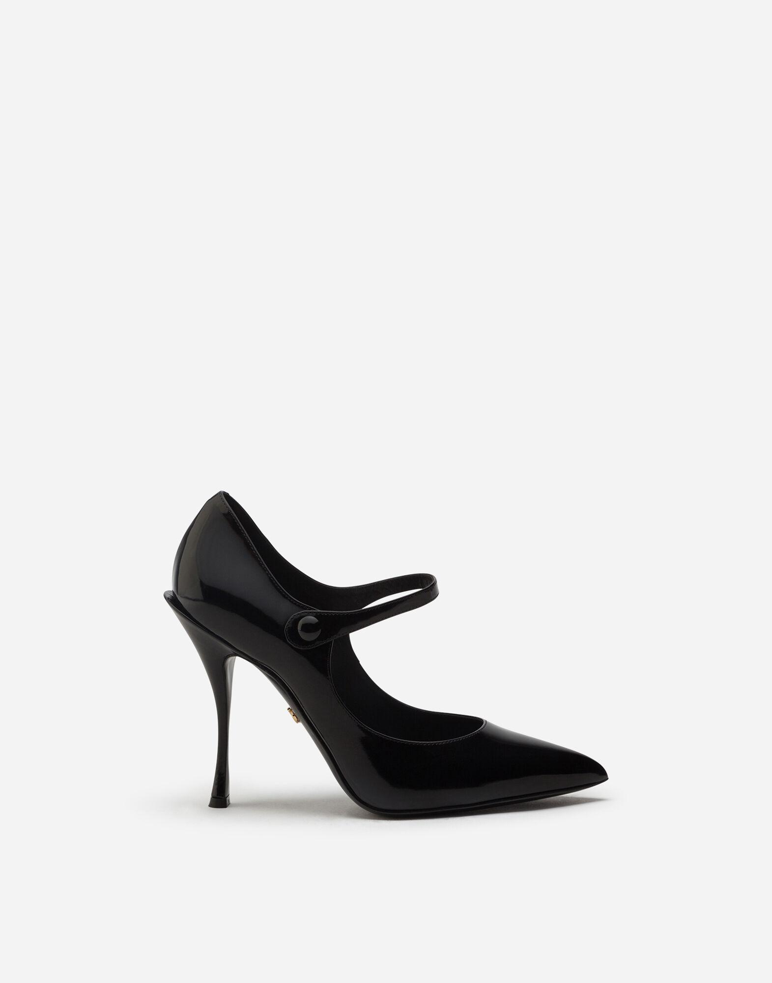 Mary Jane shoes in polished calfskin