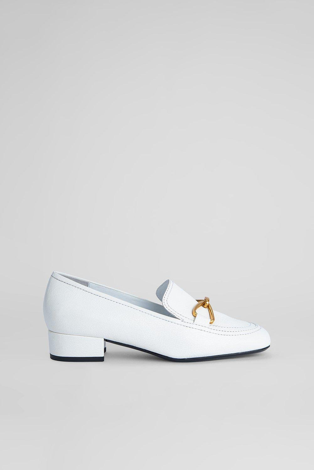 Lino White Grained Leather