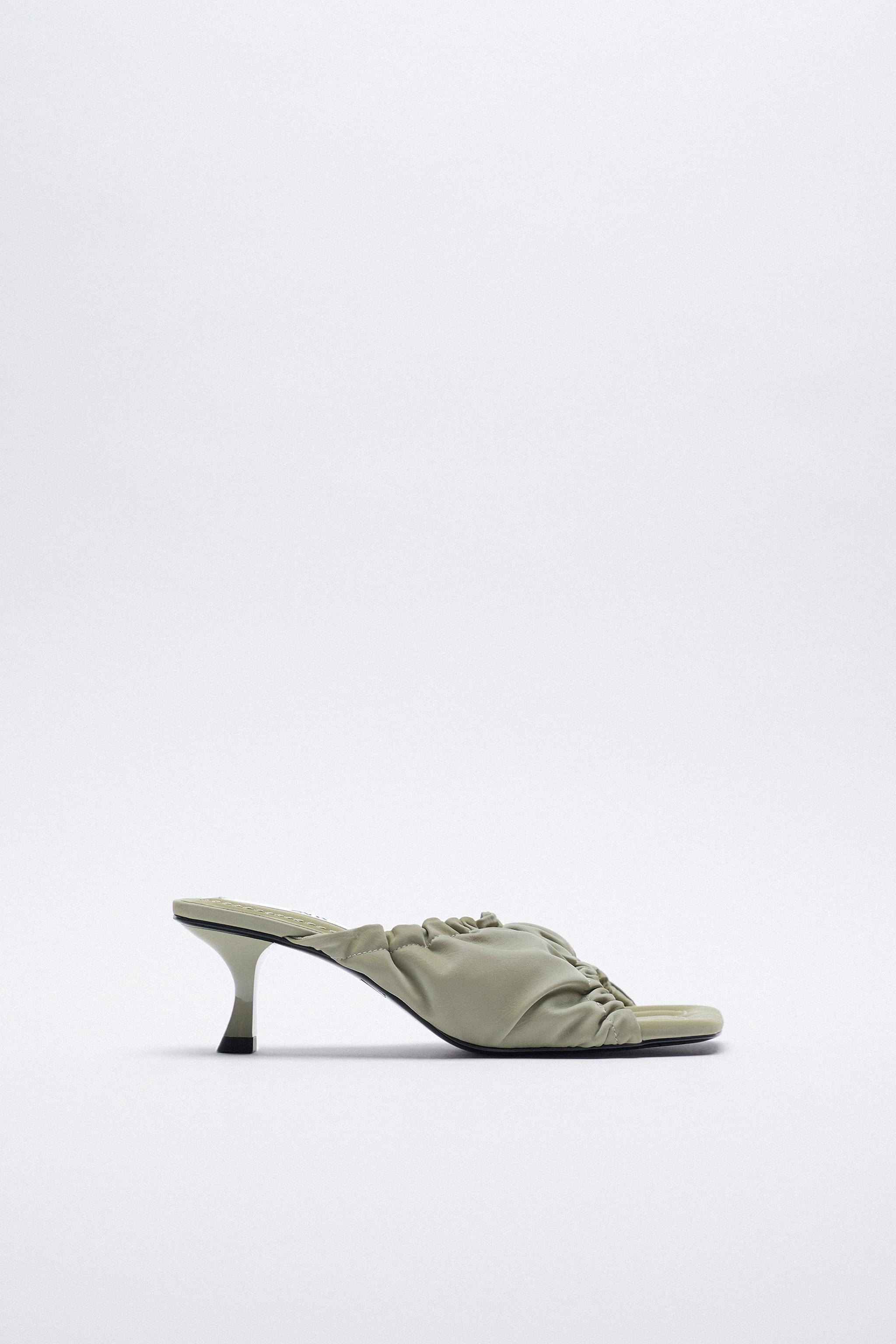 RUCHED HEELED SANDALS 1
