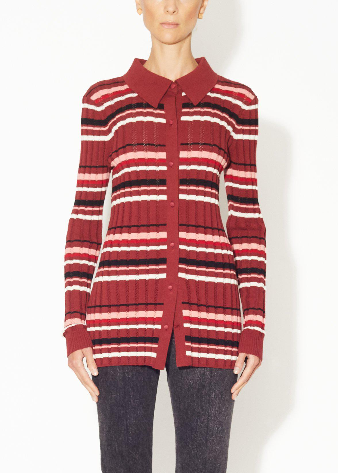 POLO SWEATER IN COTTON CREPE