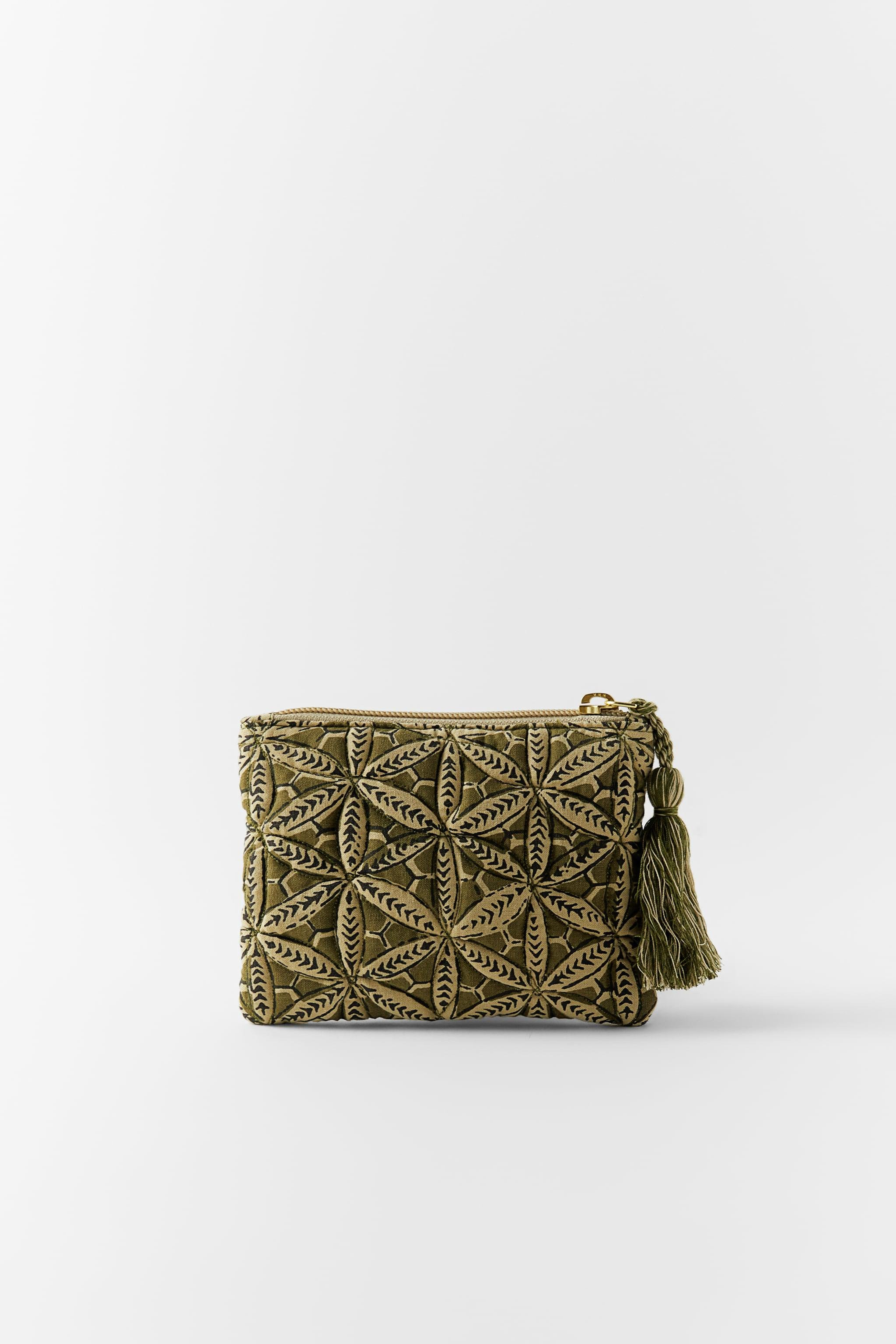 PRINTED QUILTED COIN PURSE