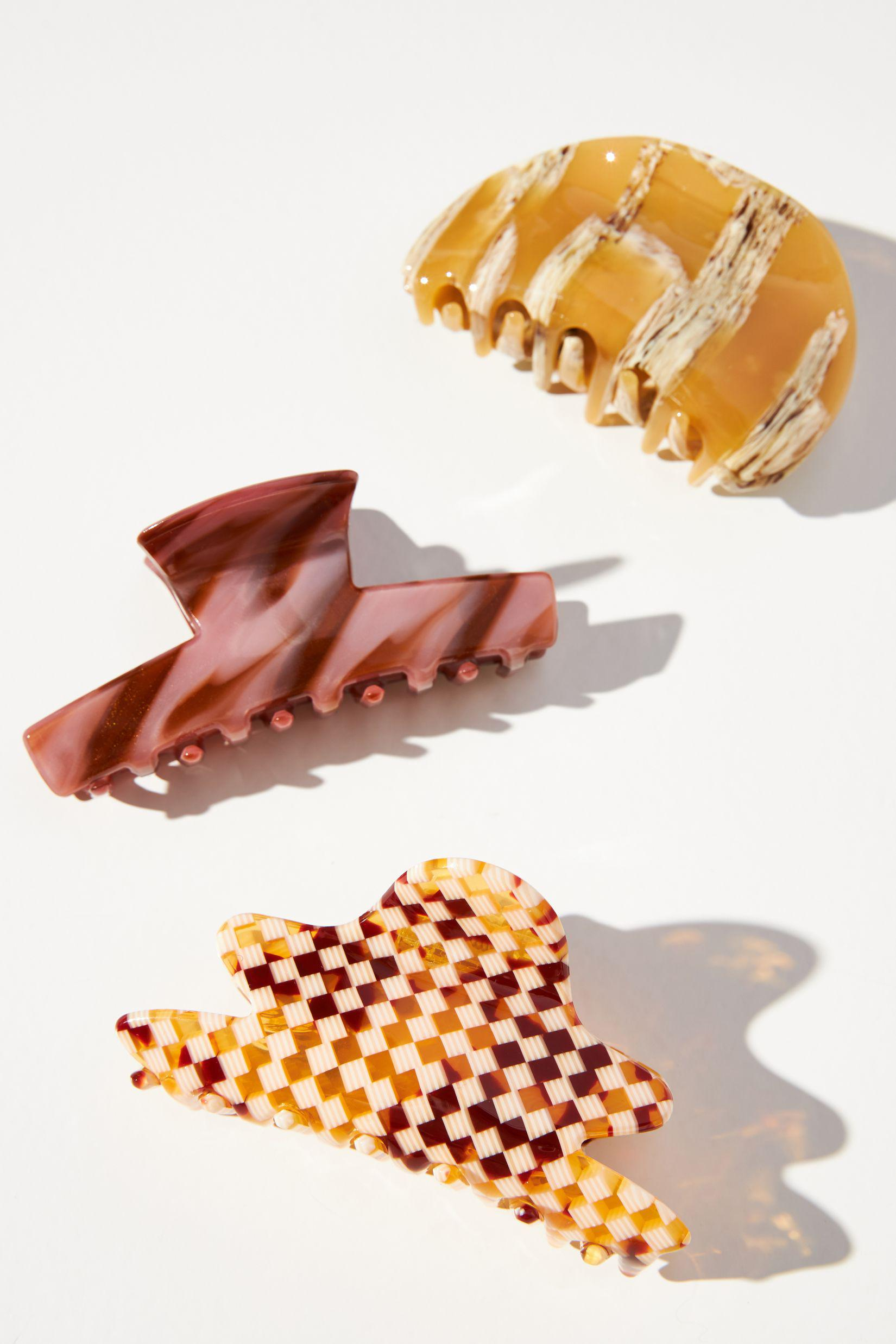 Abstract Claw Hair Clip Set