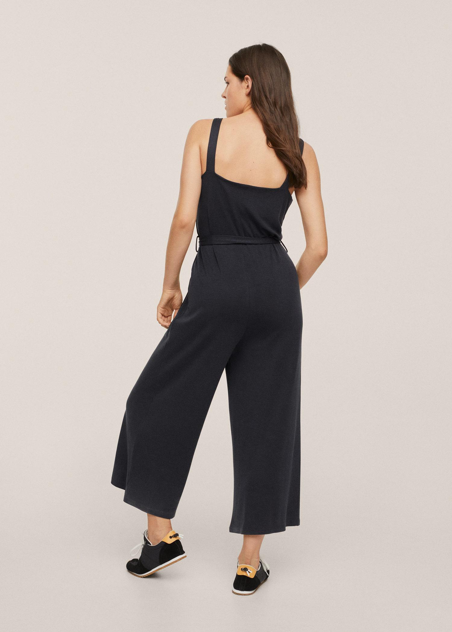 Lyocell jumpsuit with belt 2