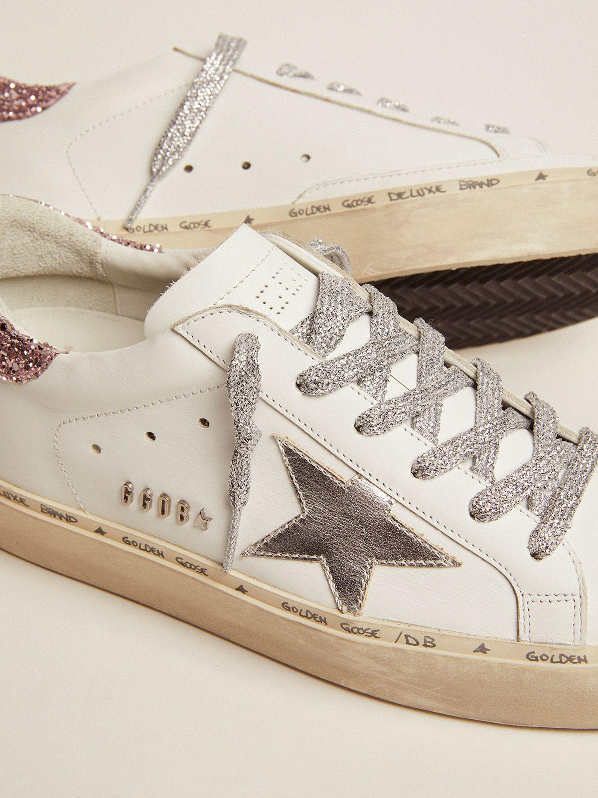 Hi Star sneakers with silver laminated leather star and quartz-pink glitter heel tab 3