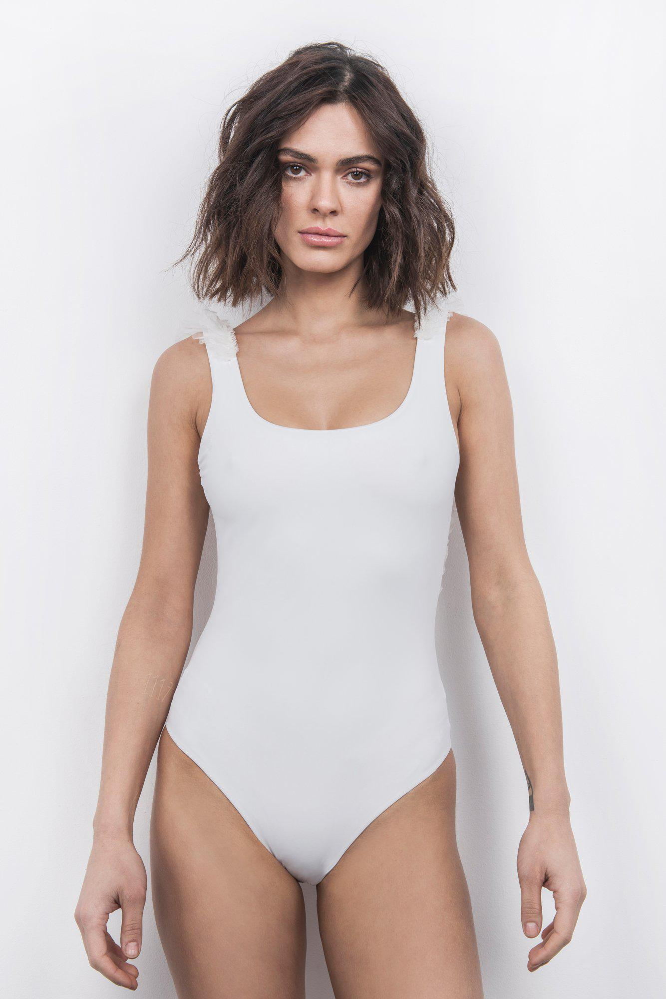 Silky Wings Backless One-Piece