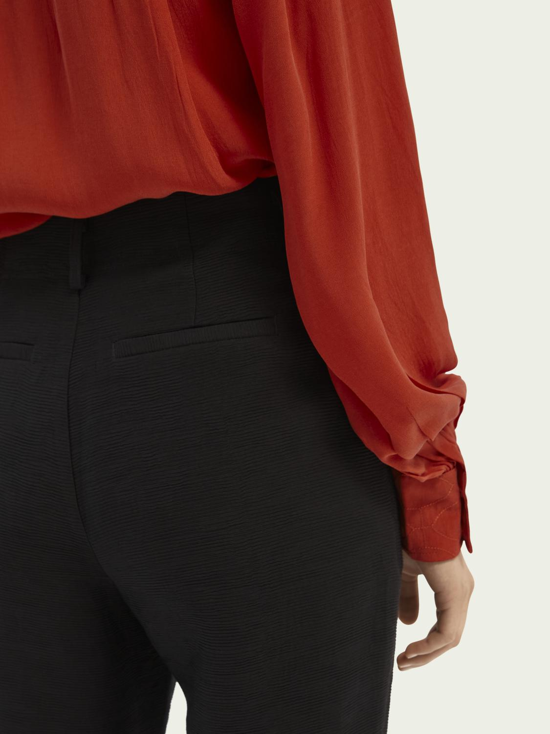 High rise tapered trousers 4