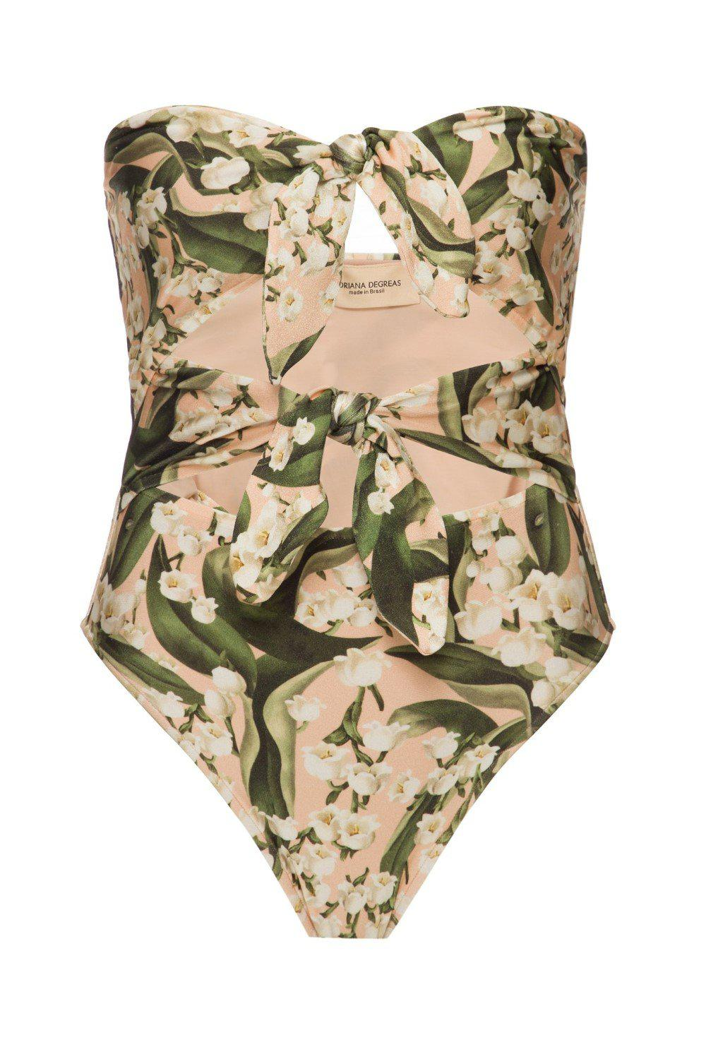Muguet Strapless High-Leg Swimsuit With Double Knot 3