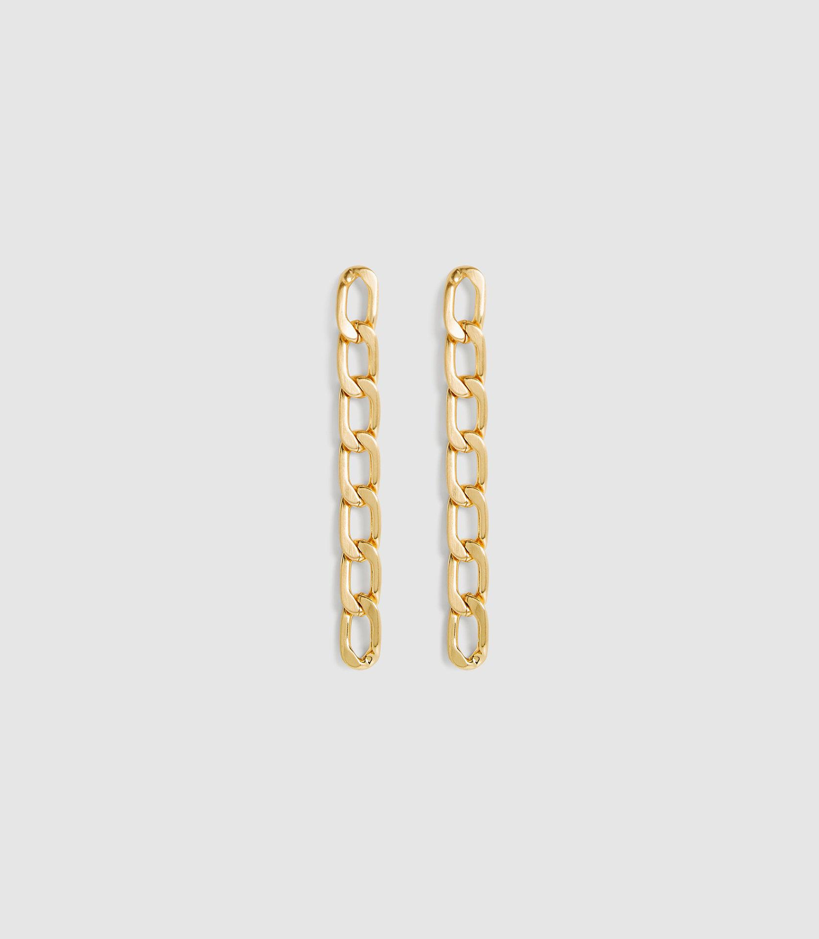 LEXI - BRUSHED PLATED GOLD EARRINGS