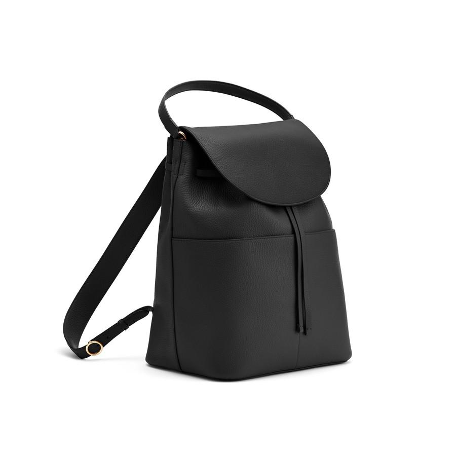 Women's Large Leather Backpack in Black | Pebbled Leather by Cuyana