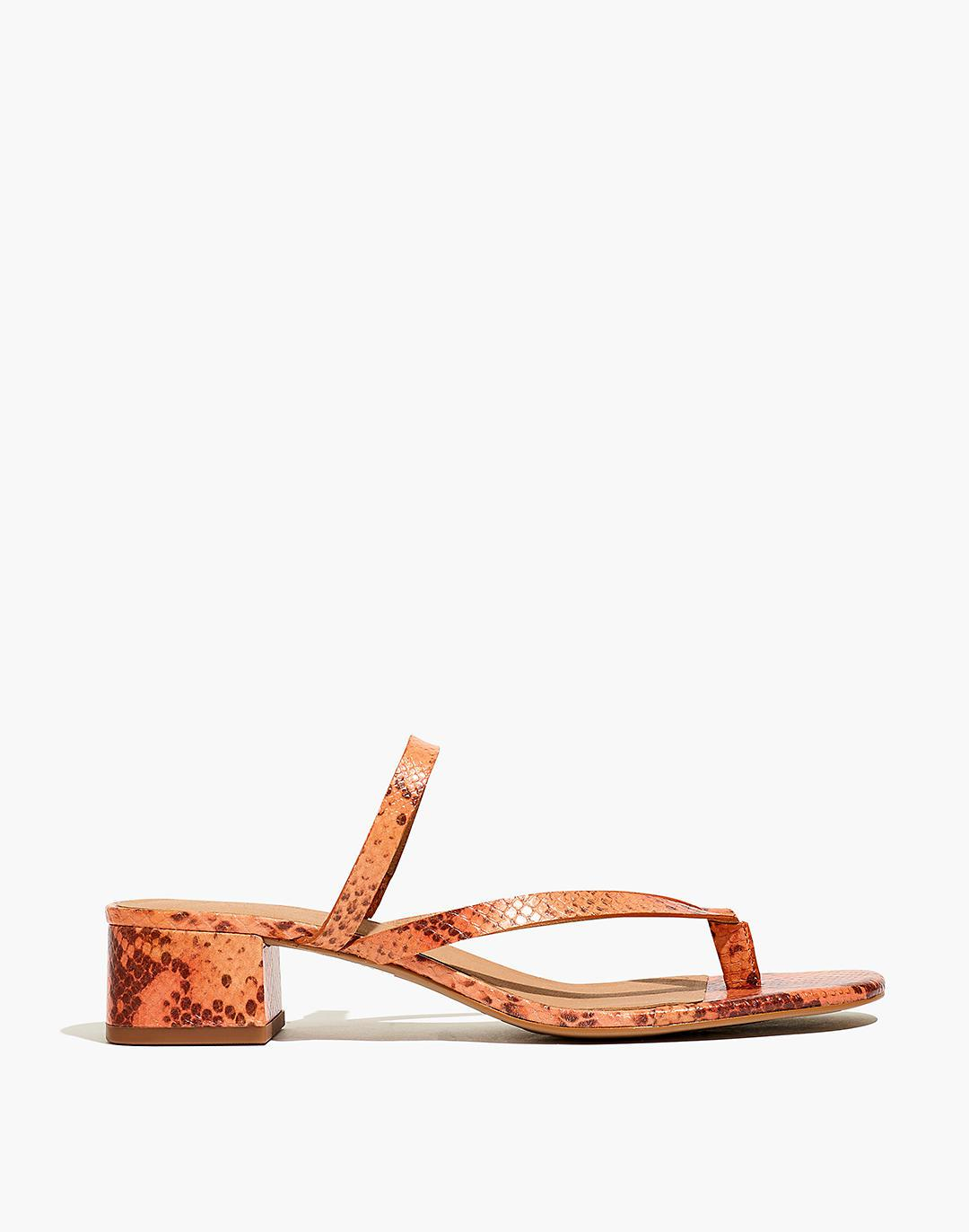 The Amber Sandal in Snake Embossed Leather 1