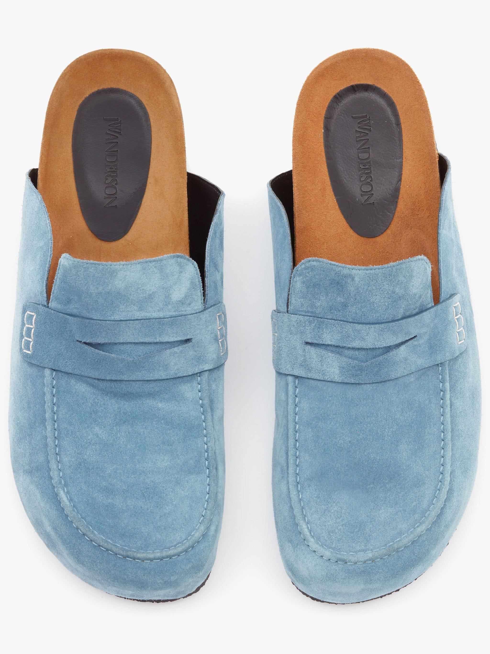 SUEDE LOAFER MULES 3