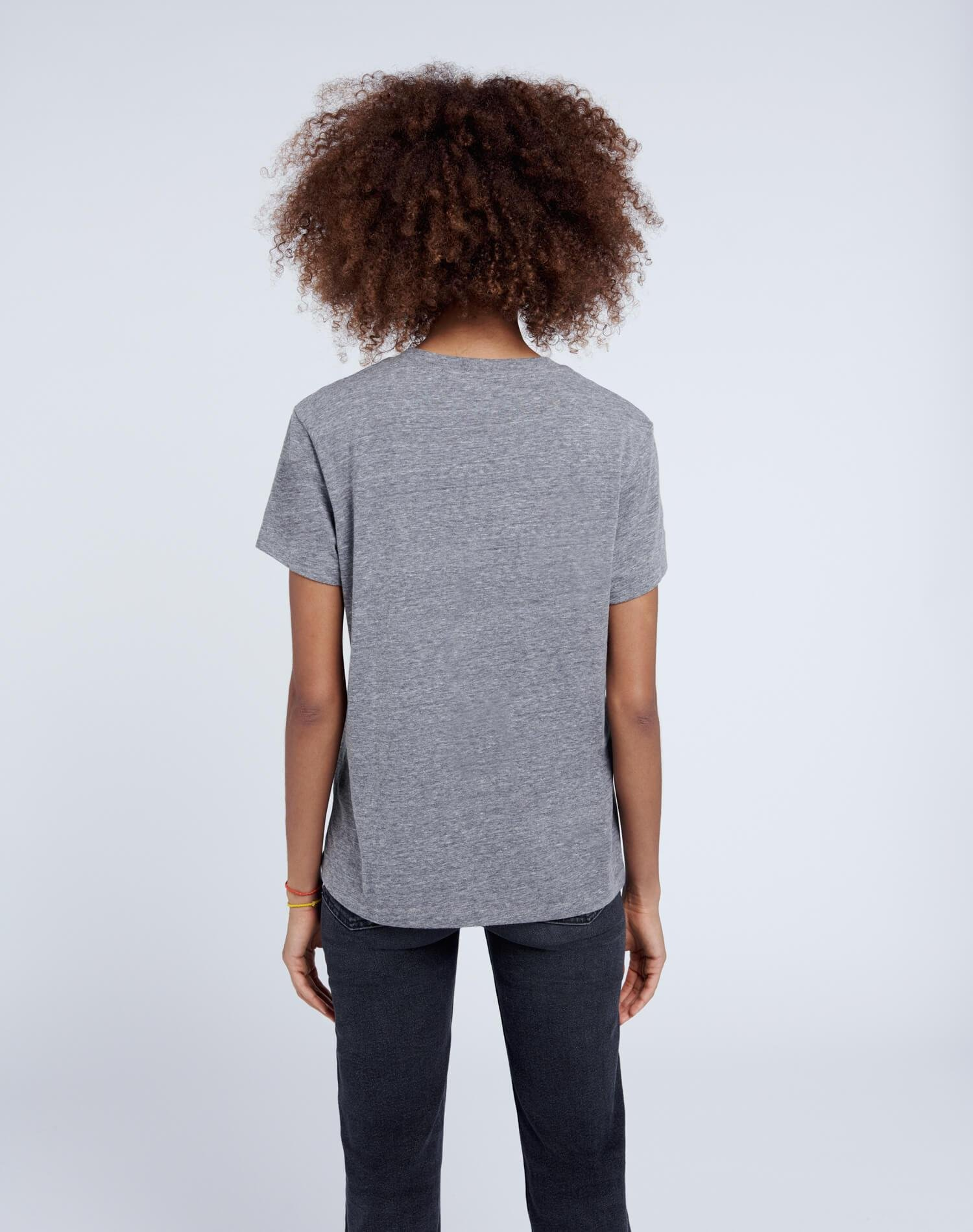 70s Recycled Loose Tee - Heather Grey 2