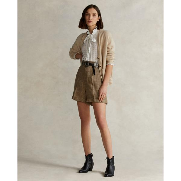 Wool-Blend Buttoned Cardigan
