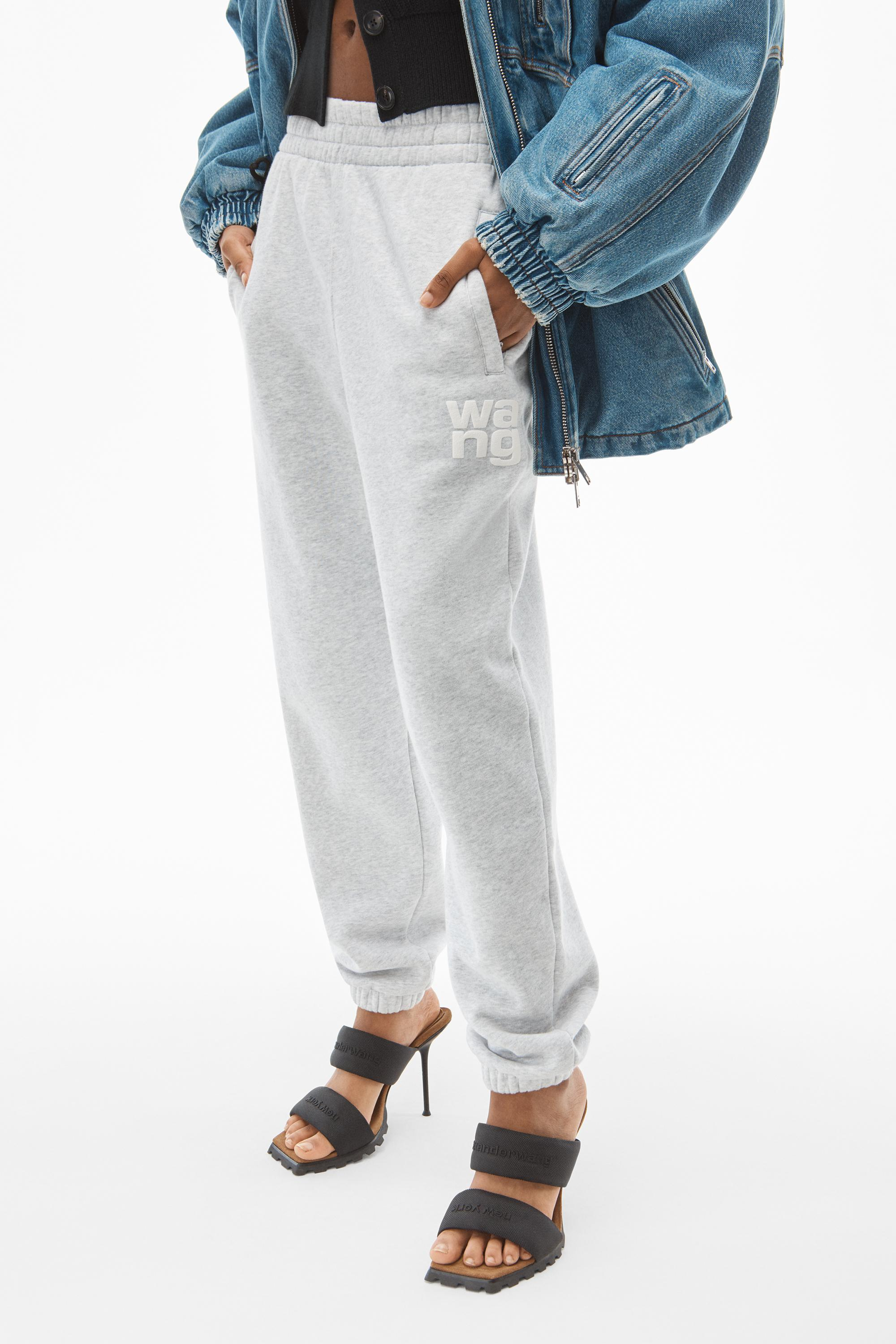 puff paint logo sweatpant in terry 2