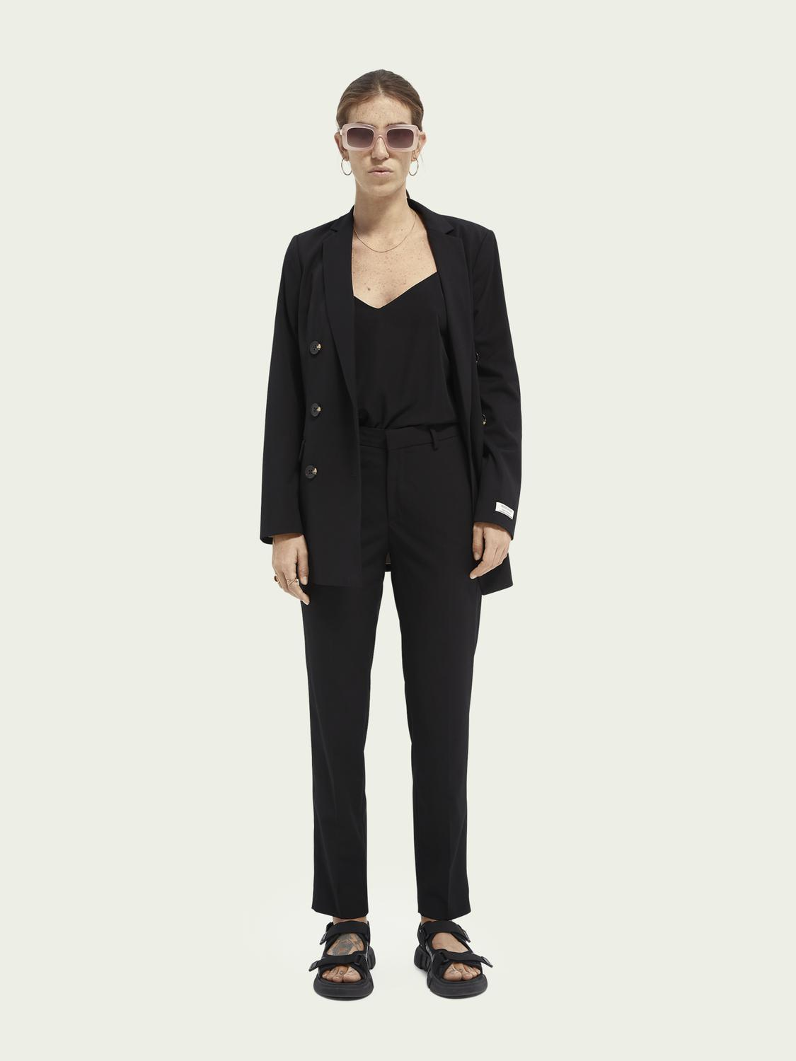 Lowry slim-fit mid-rise trousers 1