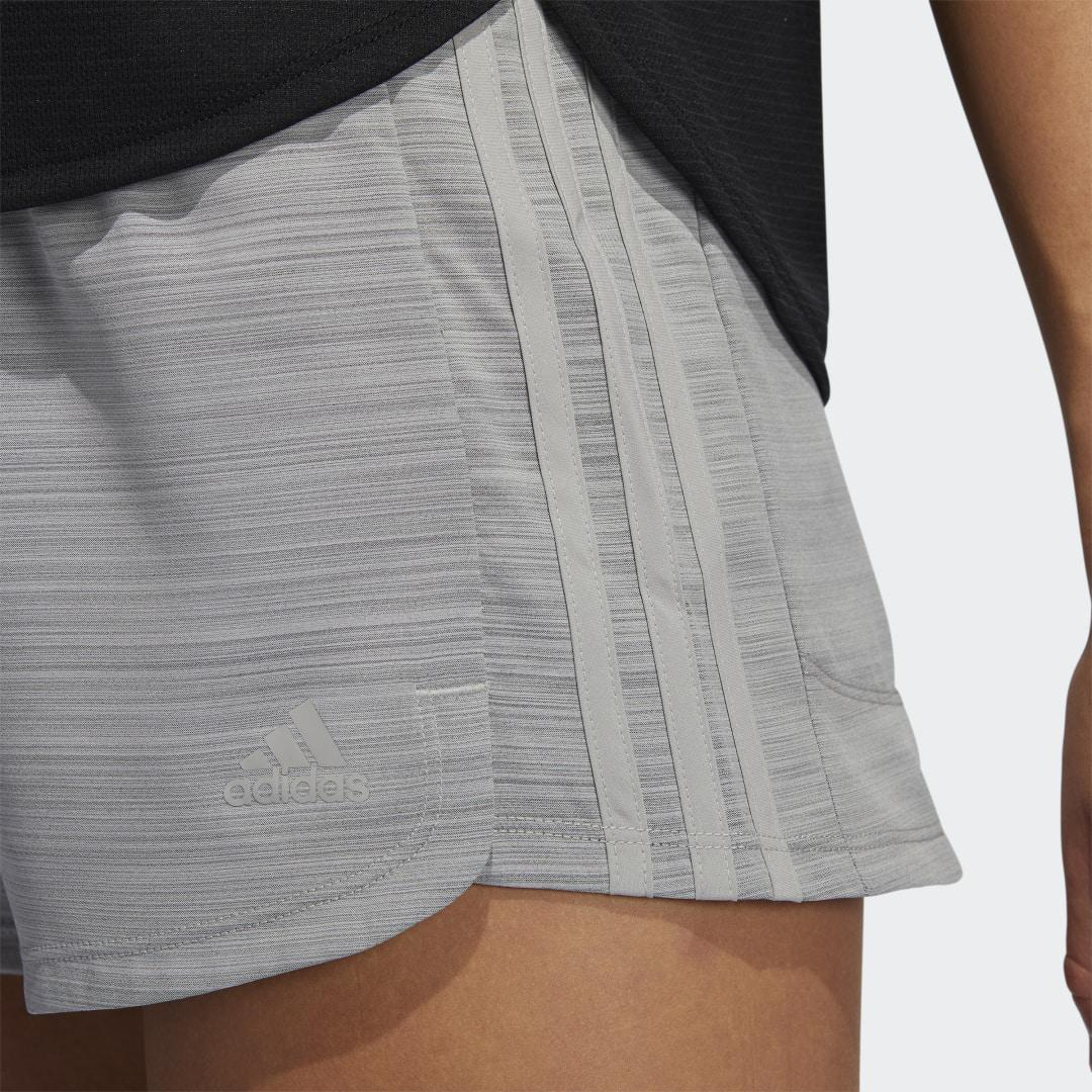 Pacer 3-Stripes Woven Heather Shorts Mgh Solid Grey XL - Womens Training Shorts 3