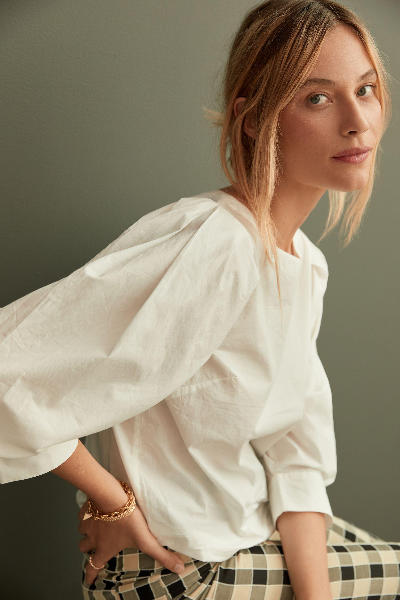 Maeve Puff-Sleeved Blouse