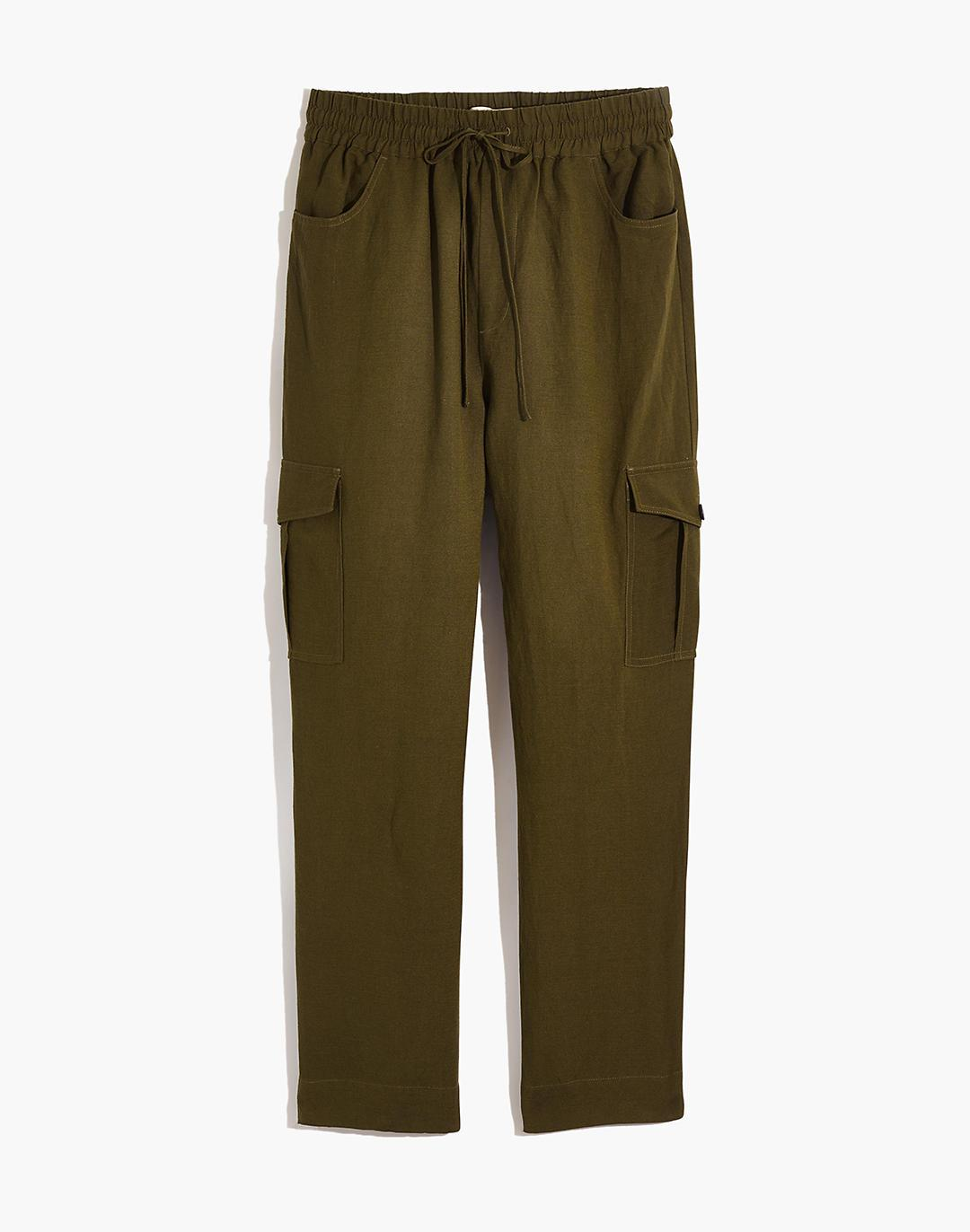 Tapered Huston Cargo Pull-On Crop Pants 3