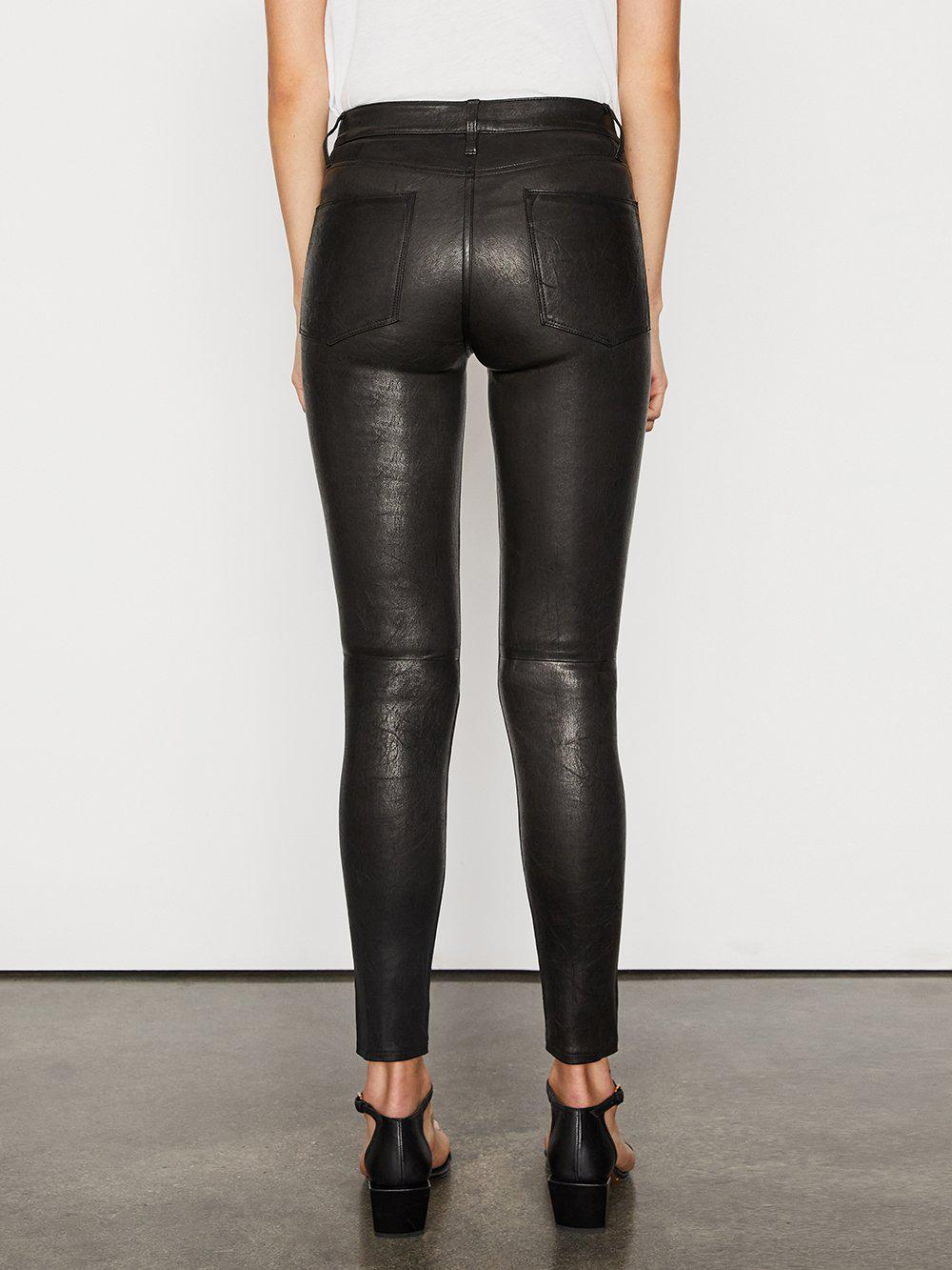 Leather Le High Skinny -- Washed Black 3