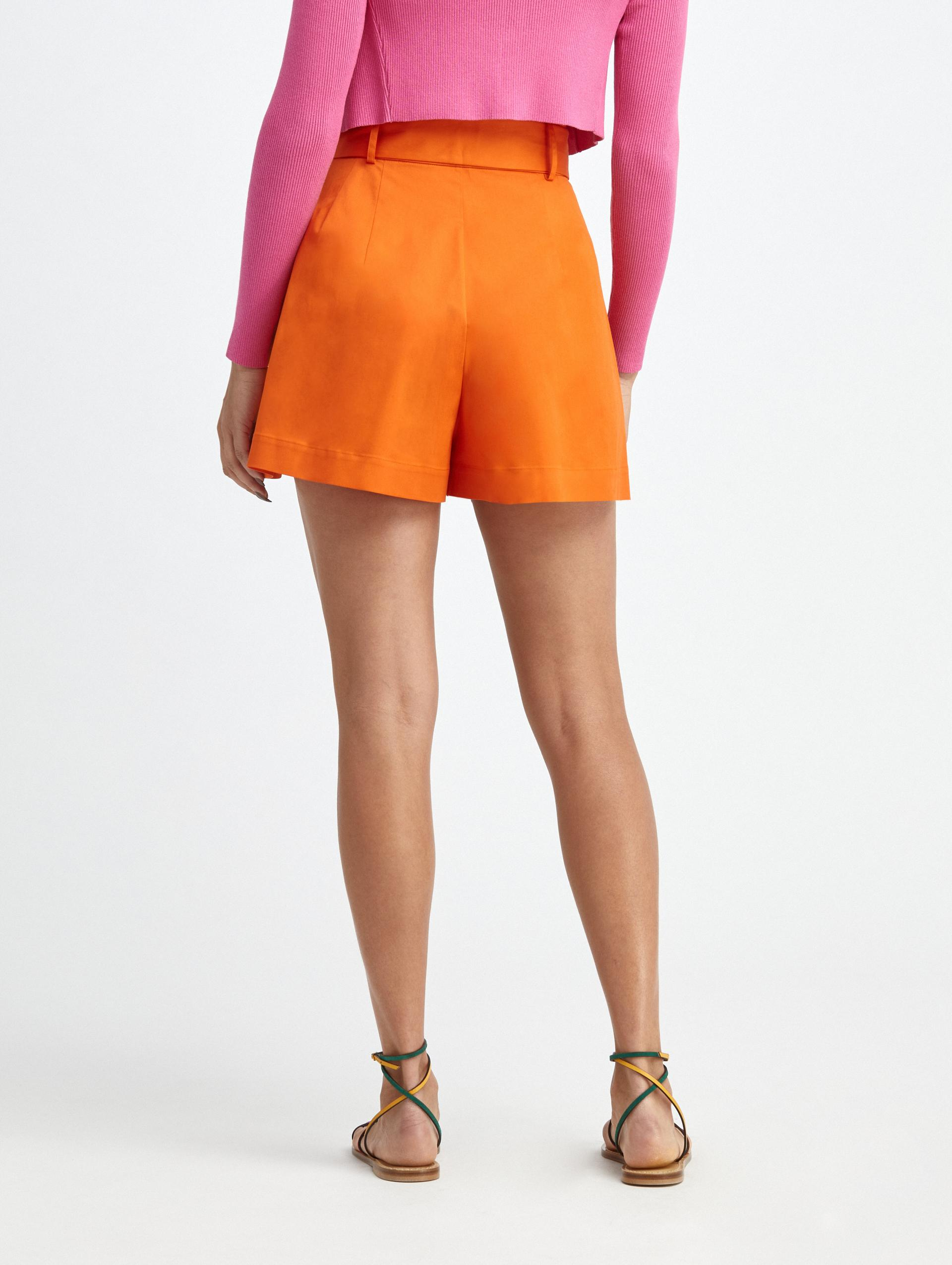 PLEATED COTTON SHORTS 3