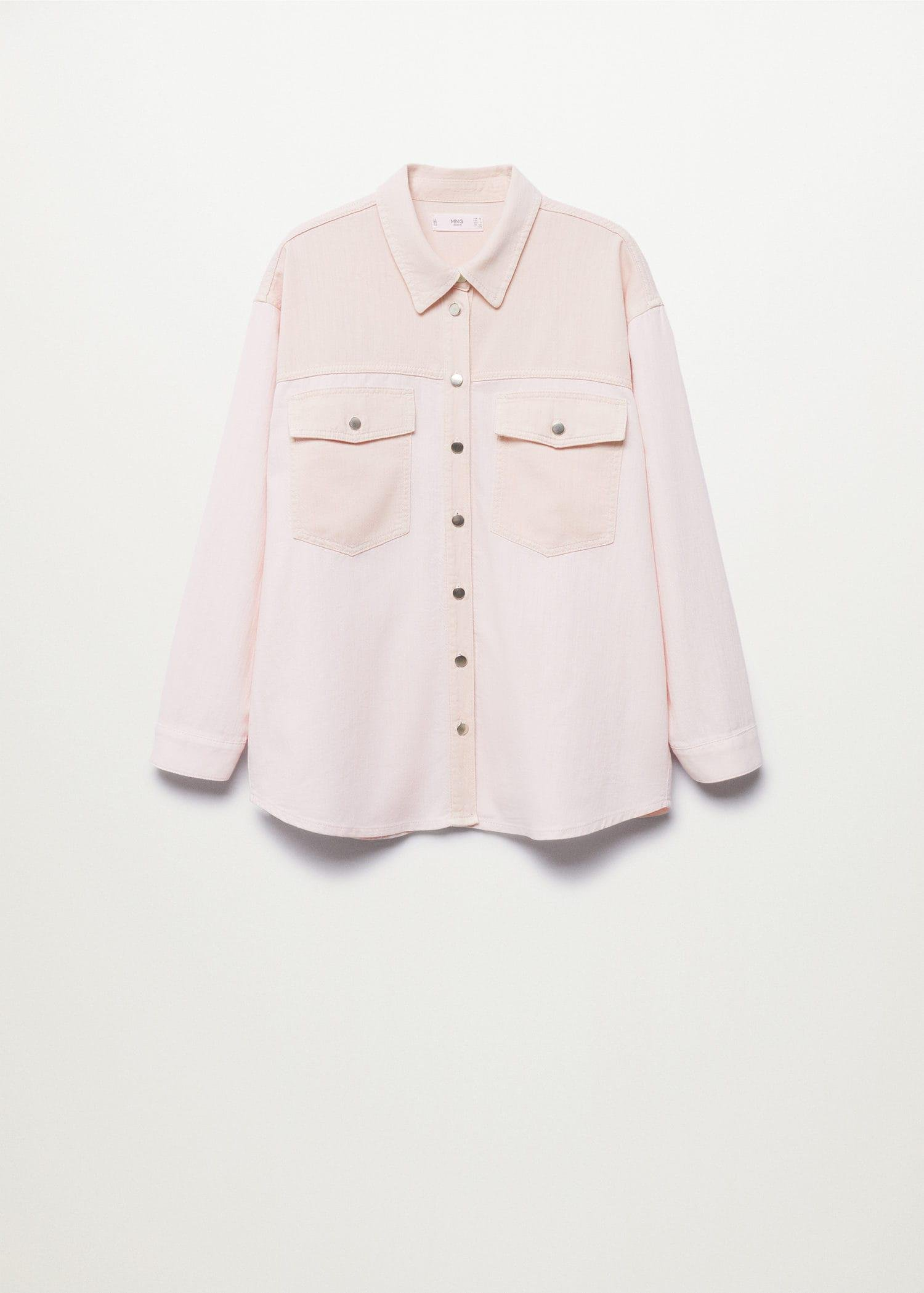 Contrasted pocketed shirt 7