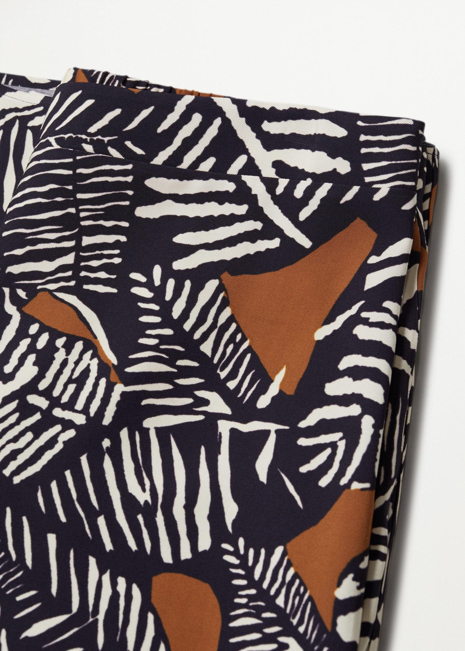 Printed culotte trousers 5