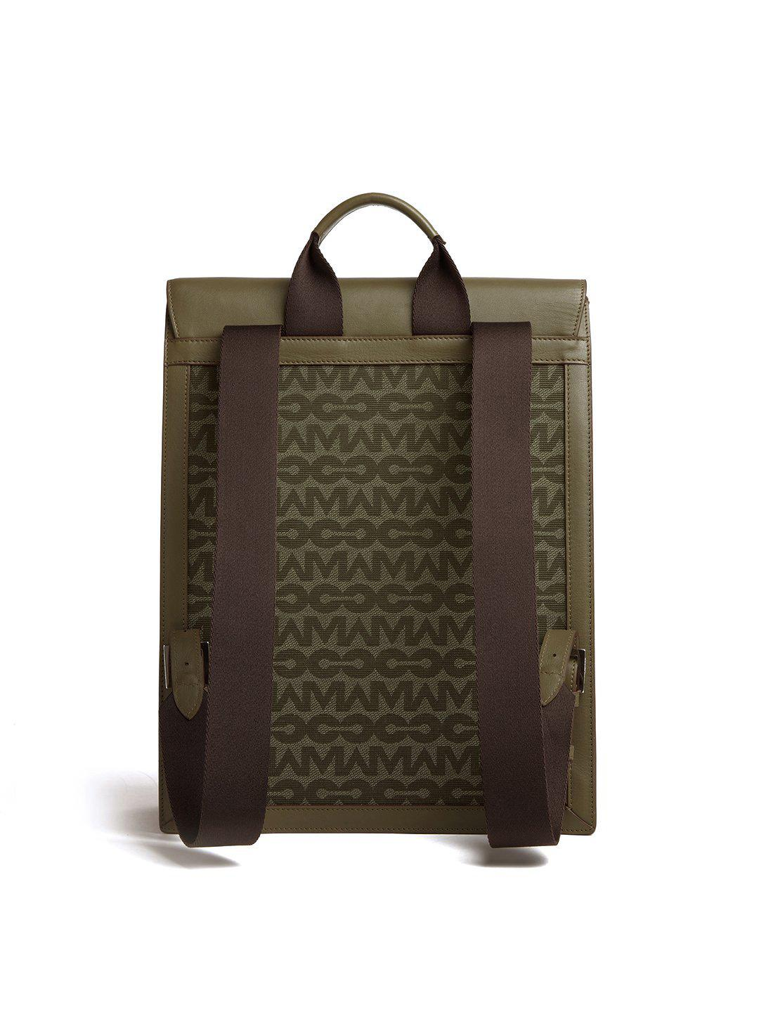 Andy MC Jacquard & Leather Backpack 2