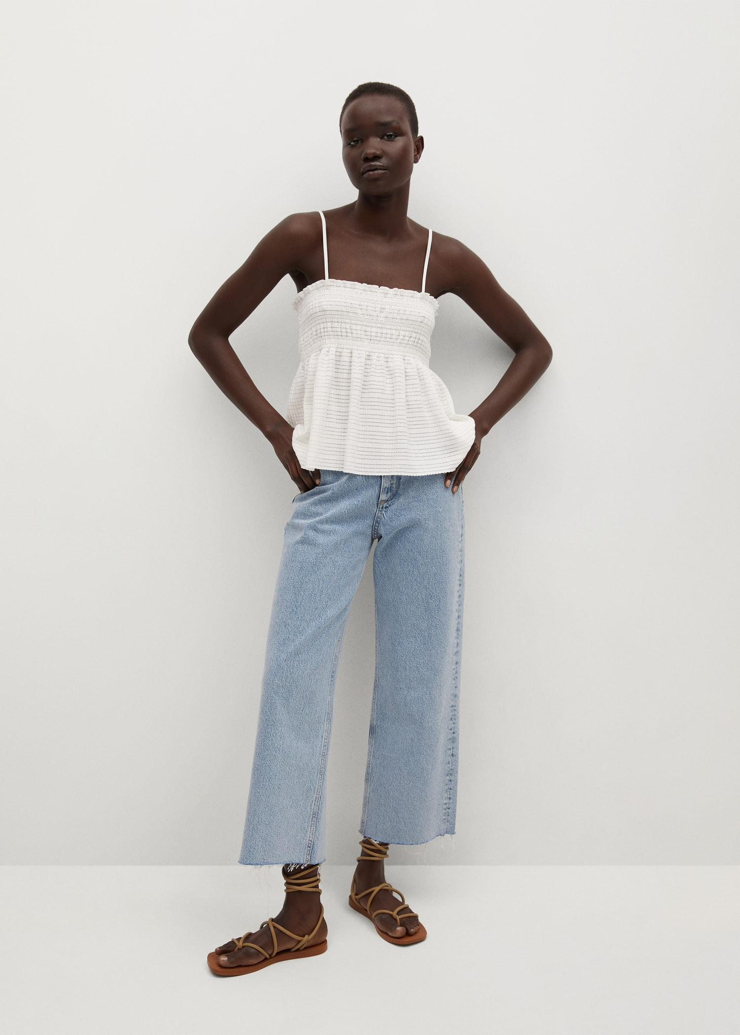 Pleated strap top 1