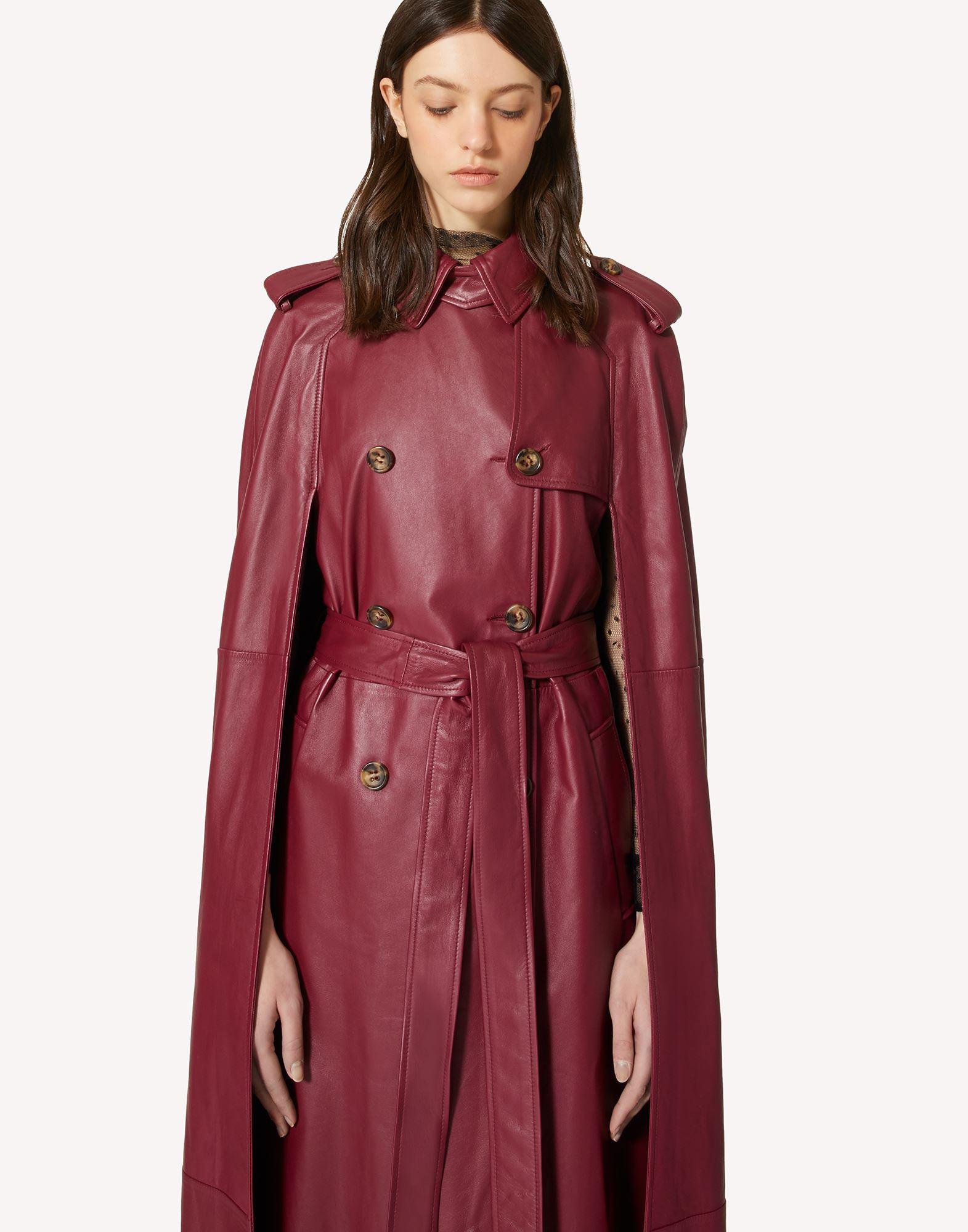 LEATHER TRENCH-LIKE CAPE 3
