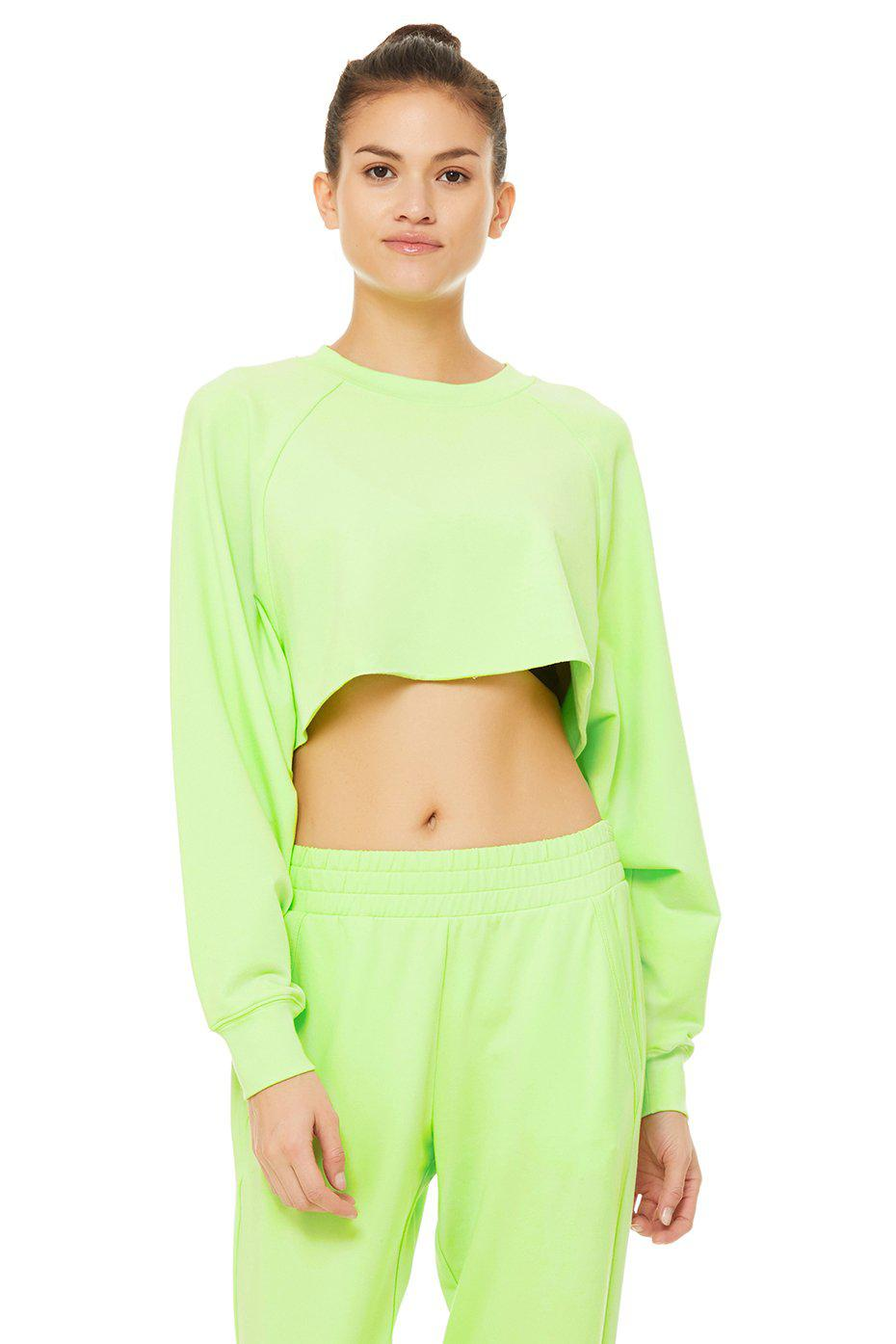 Double Take Pullover - Neon Lime