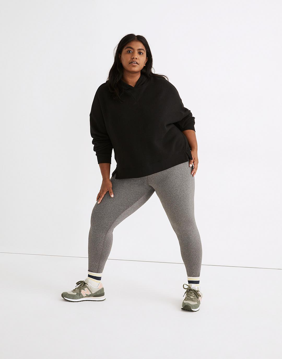 """Plus MWL Form High-Rise 25"""" Leggings in Heathered Charcoal"""