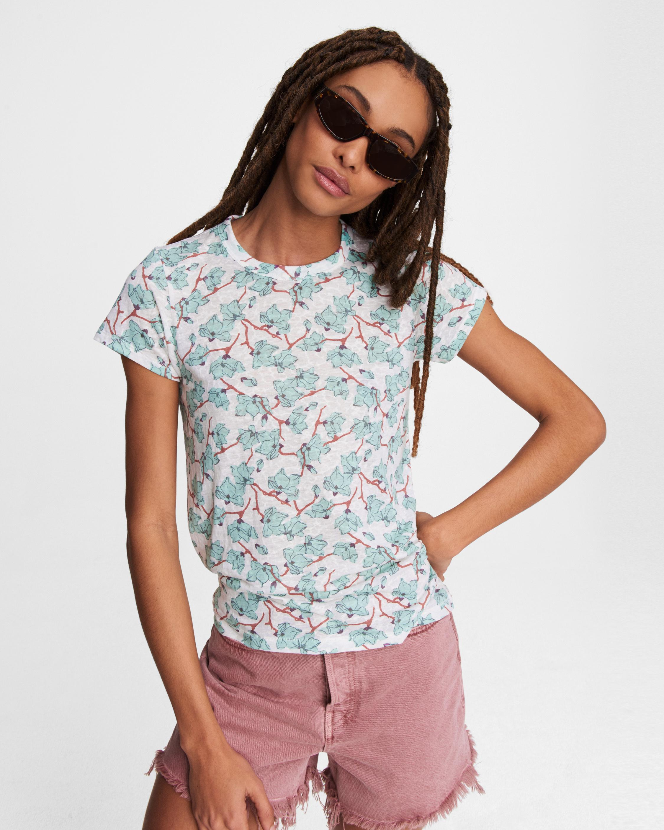 All over lily vine jersey tee