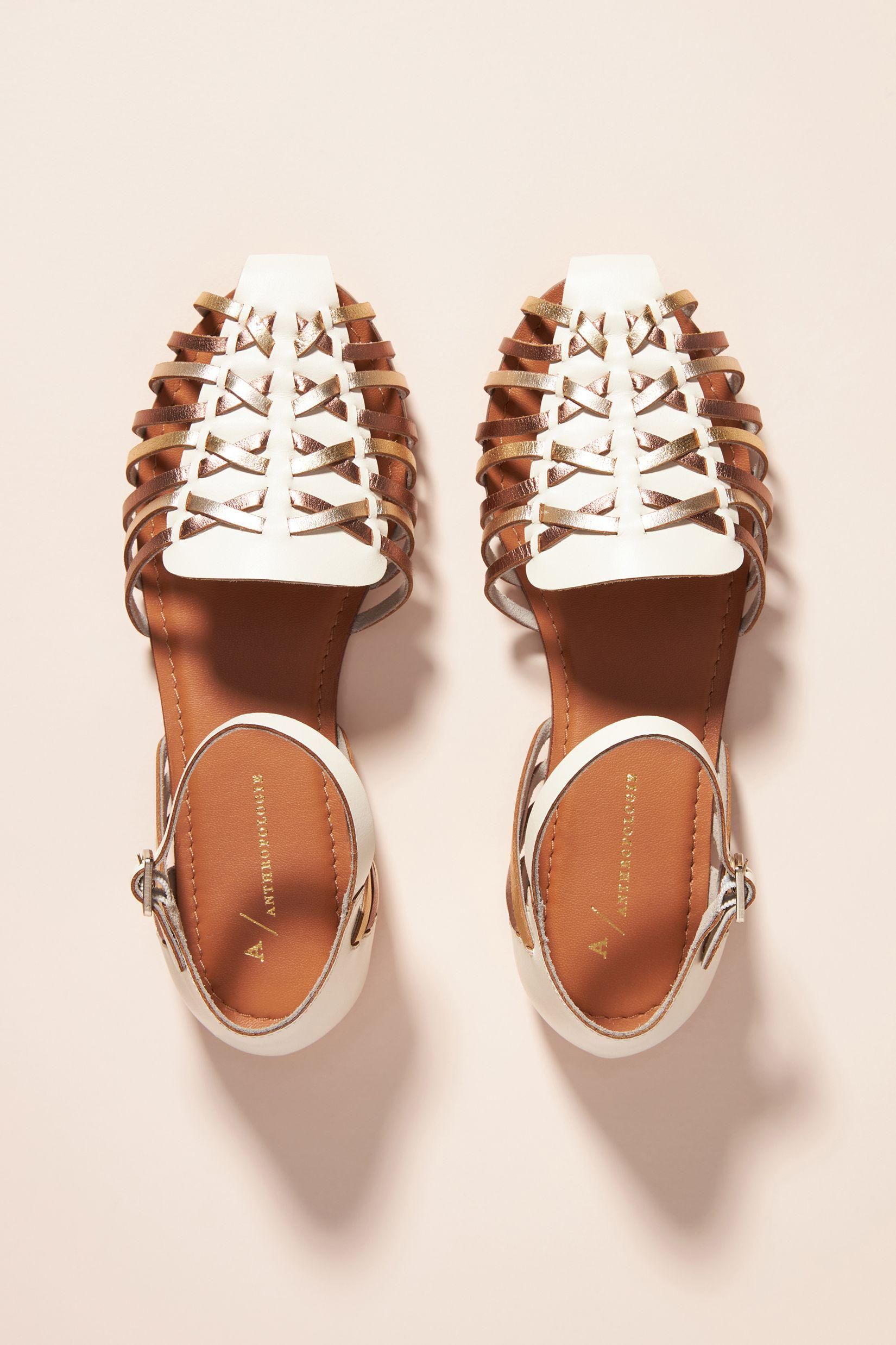 Woven Leather Flats 1
