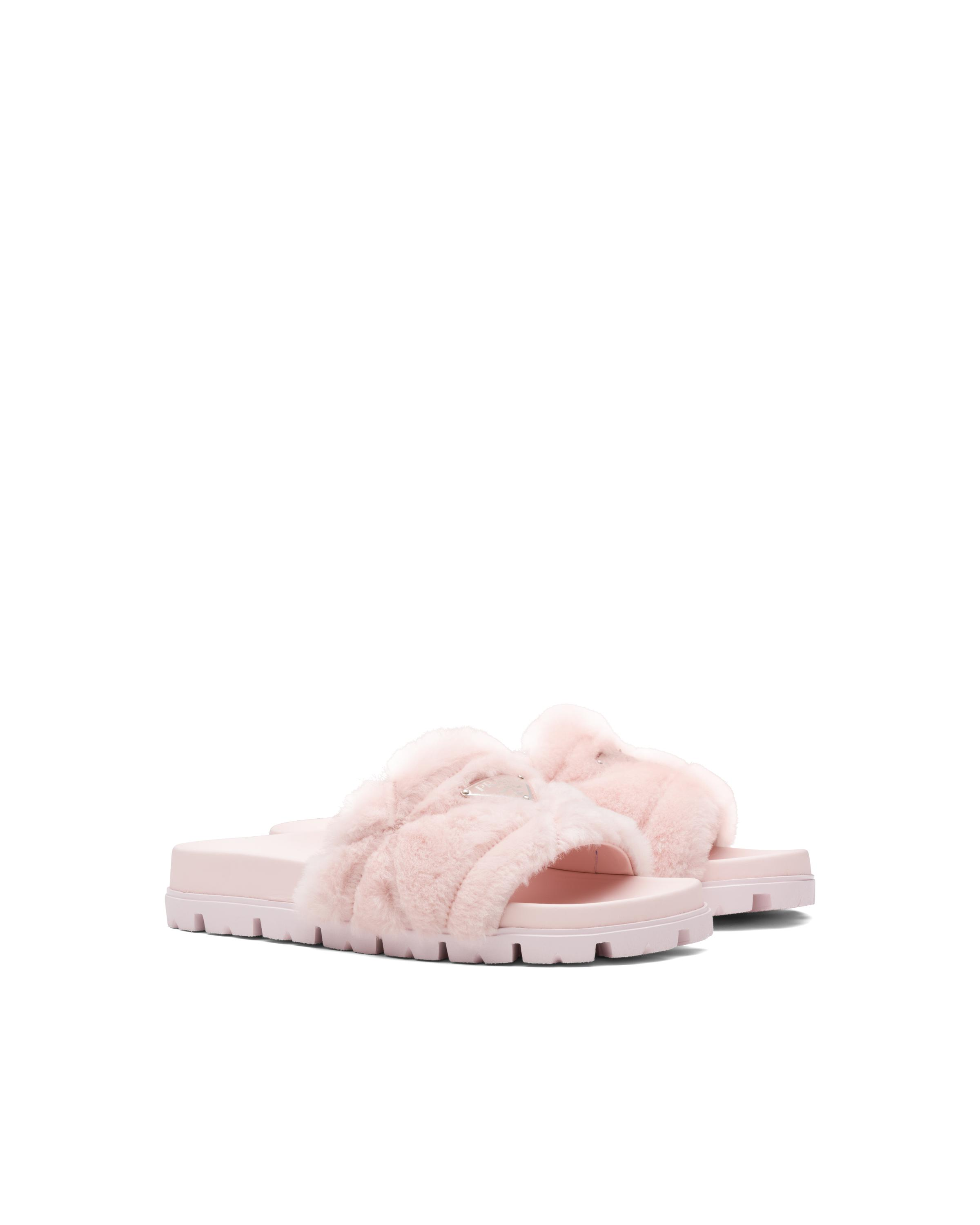 Shearling Slides Women Orchid Pink 5