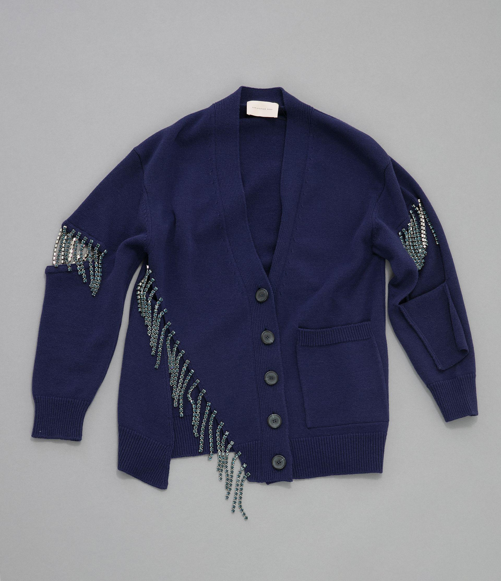 cut-out cupchain knitted cardigan 5