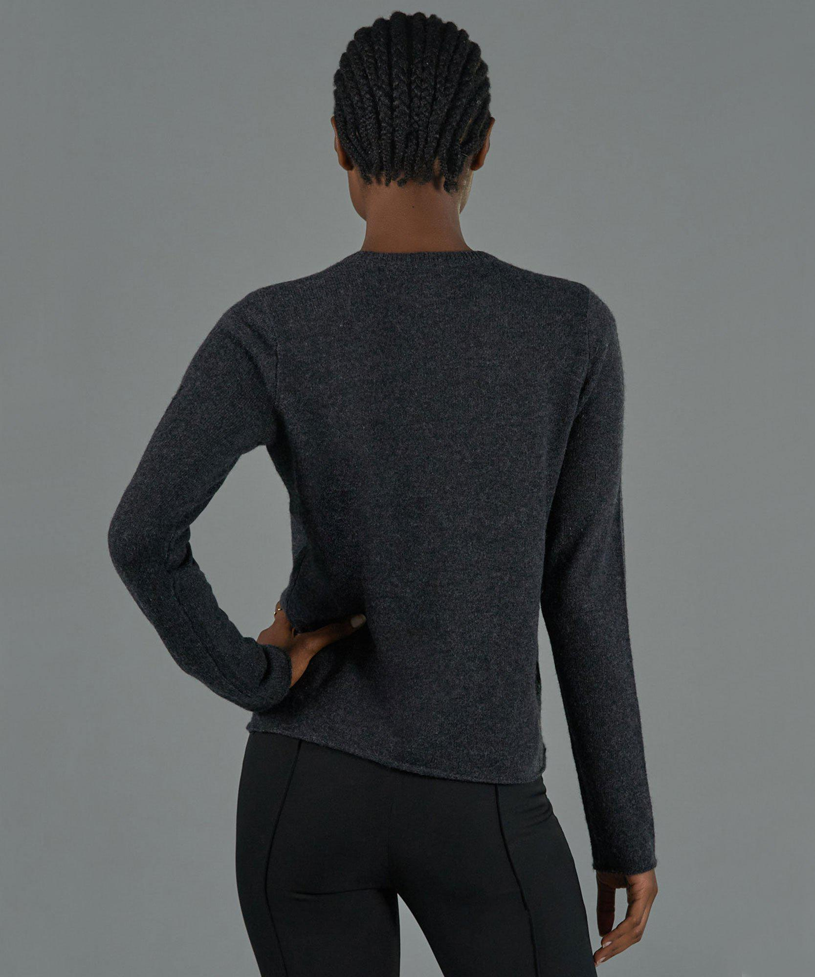 Cashmere Crew Neck Sweater - Charcoal 2