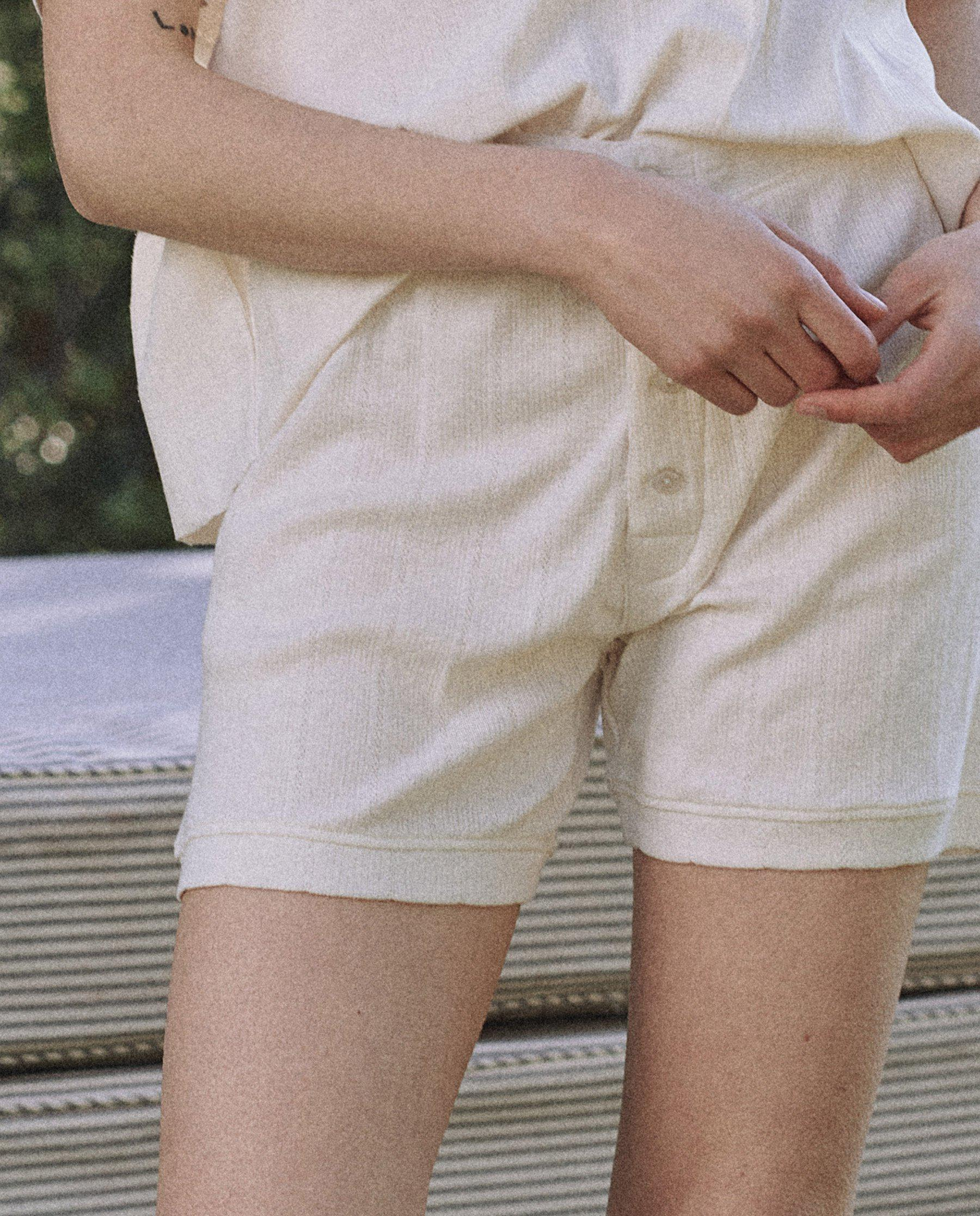 The Pointelle Brief. -- Washed White 2