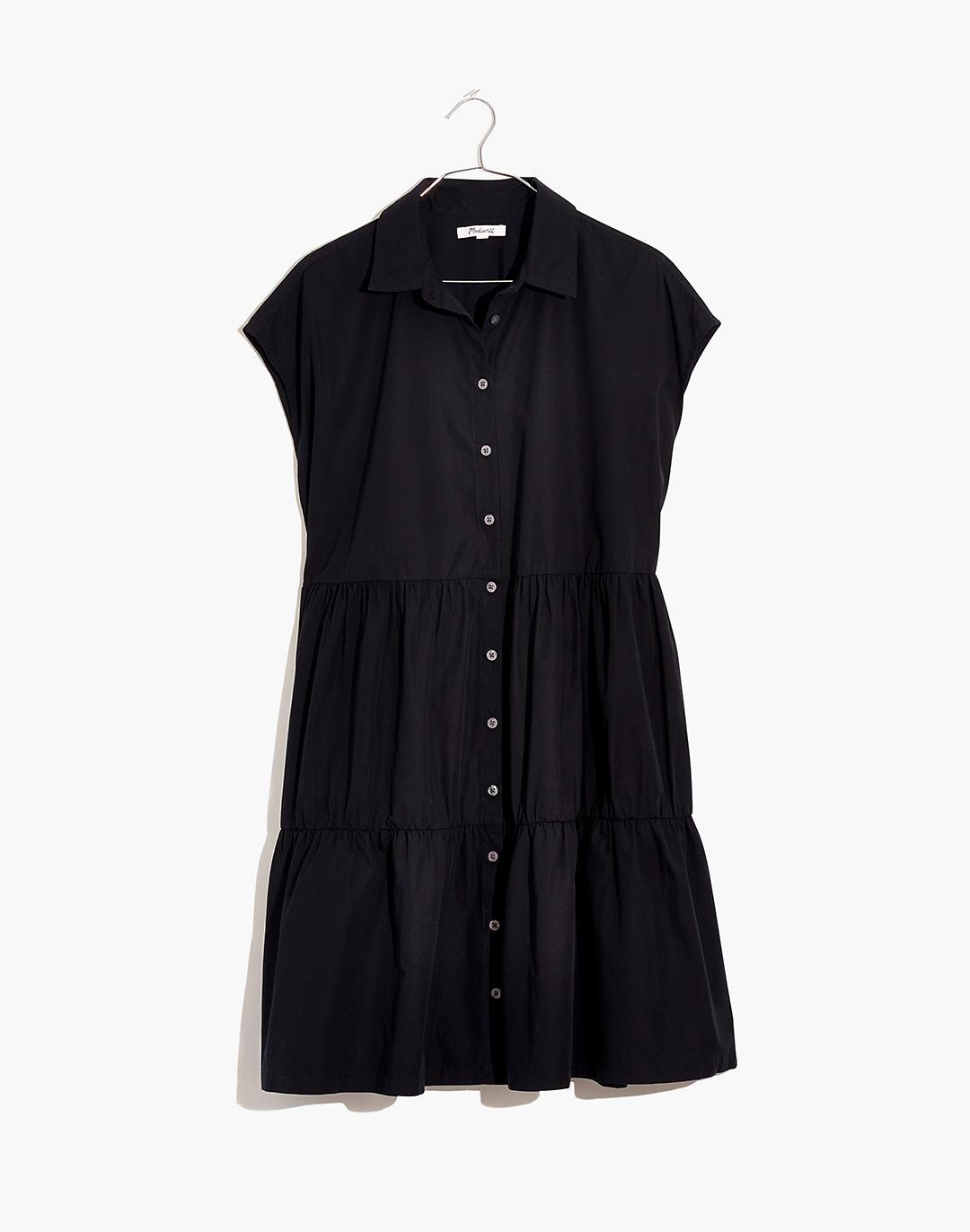Banded-Collar Tiered Dress 3