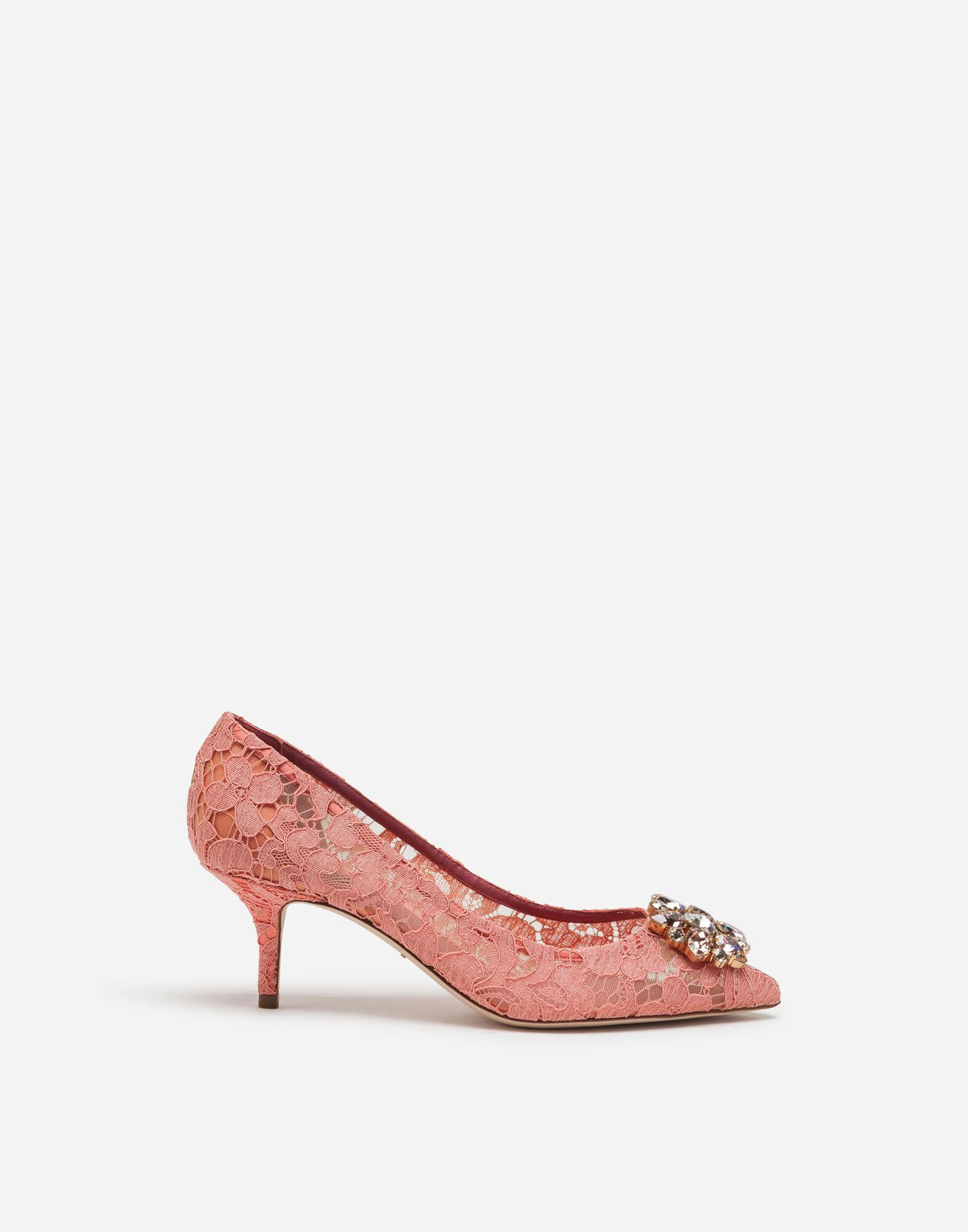 Taormina lace pumps with crystals